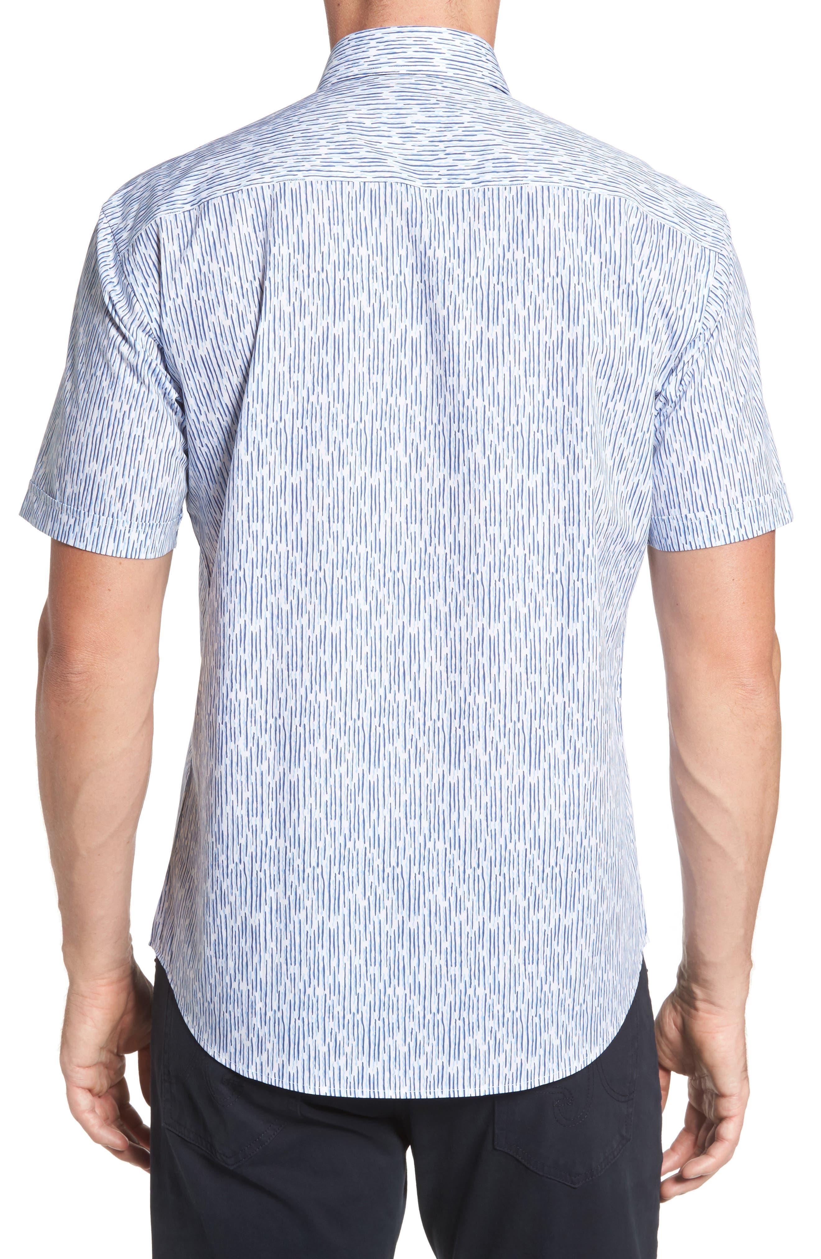 Shaped Fit Print Sport Shirt,                             Alternate thumbnail 2, color,                             451