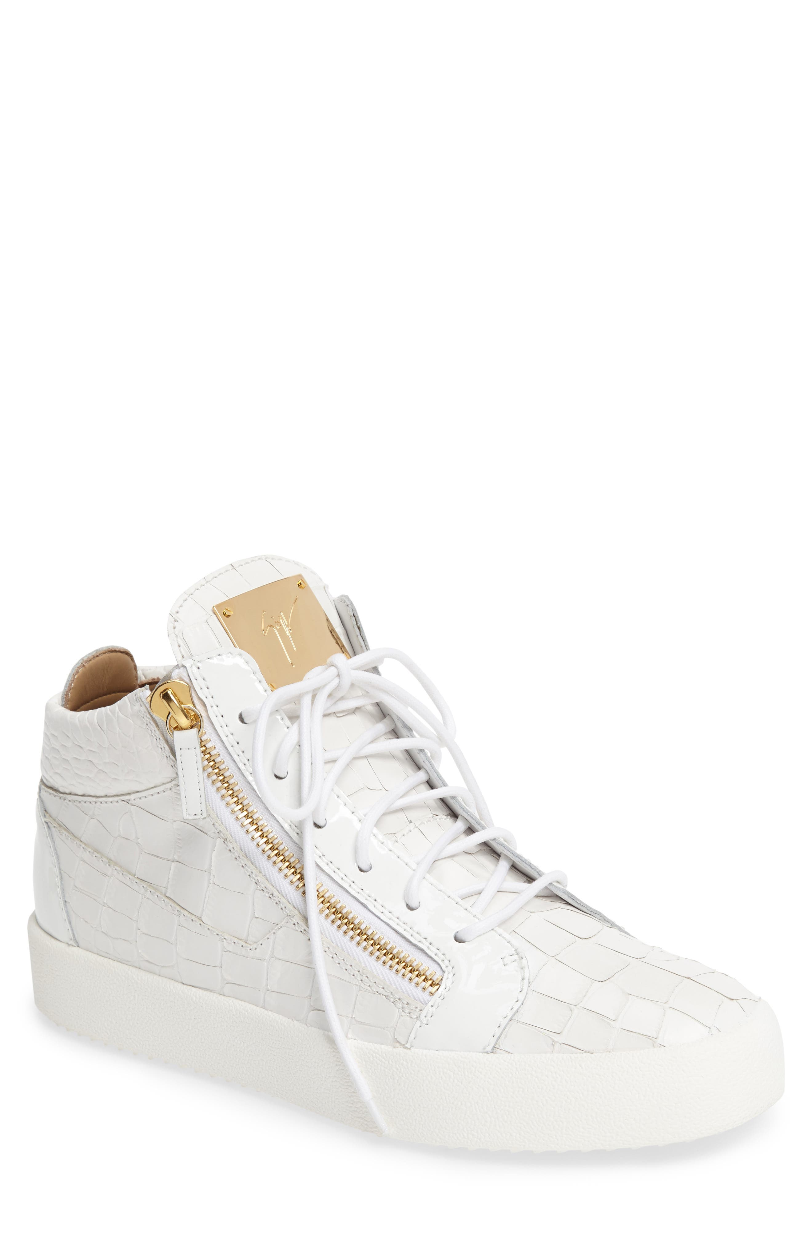 Mid Top Sneaker,                         Main,                         color, WHITE