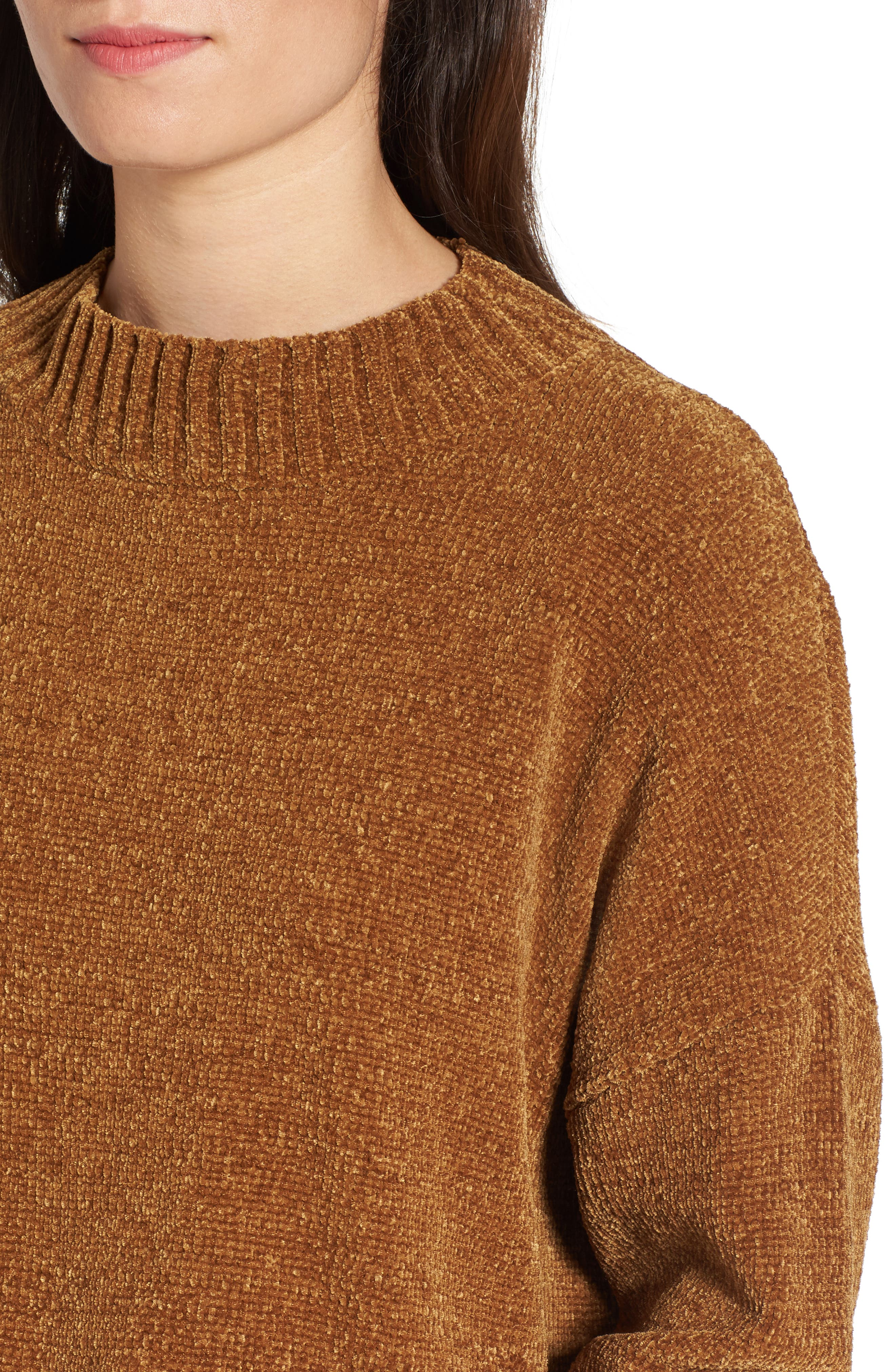 Chenille Funnel Neck Sweater,                             Alternate thumbnail 17, color,