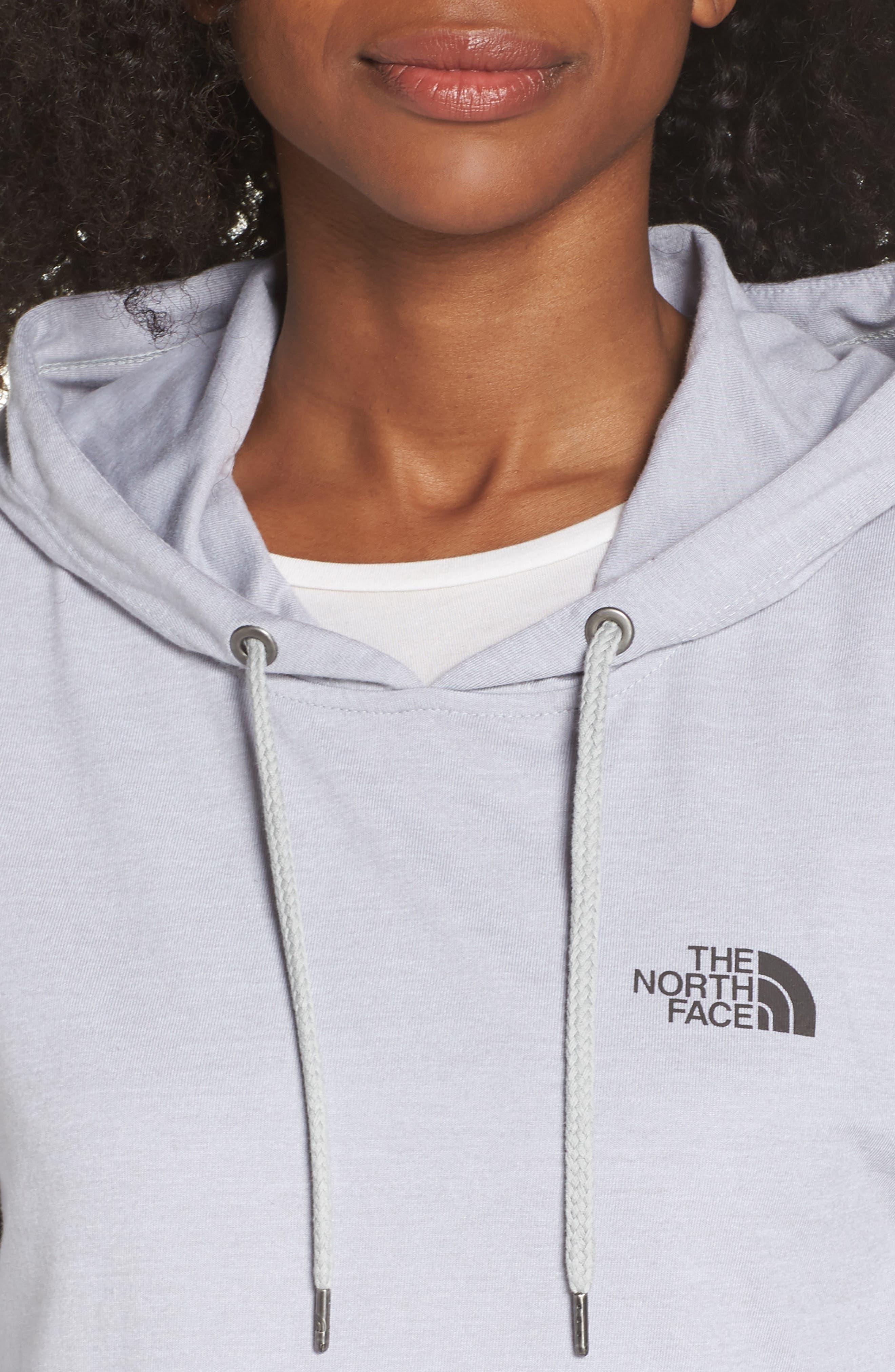 Lightweight Hoodie Sweatshirt,                             Alternate thumbnail 4, color,                             TNF LIGHT GREY HEATHER
