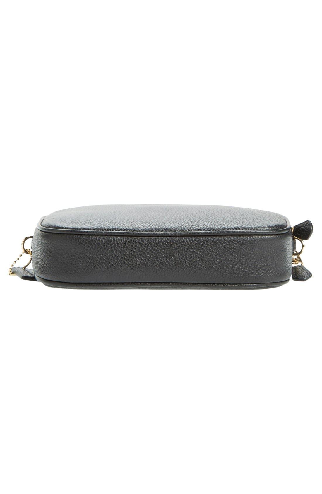 Convertible Leather Crossbody Bag,                             Alternate thumbnail 5, color,                             001