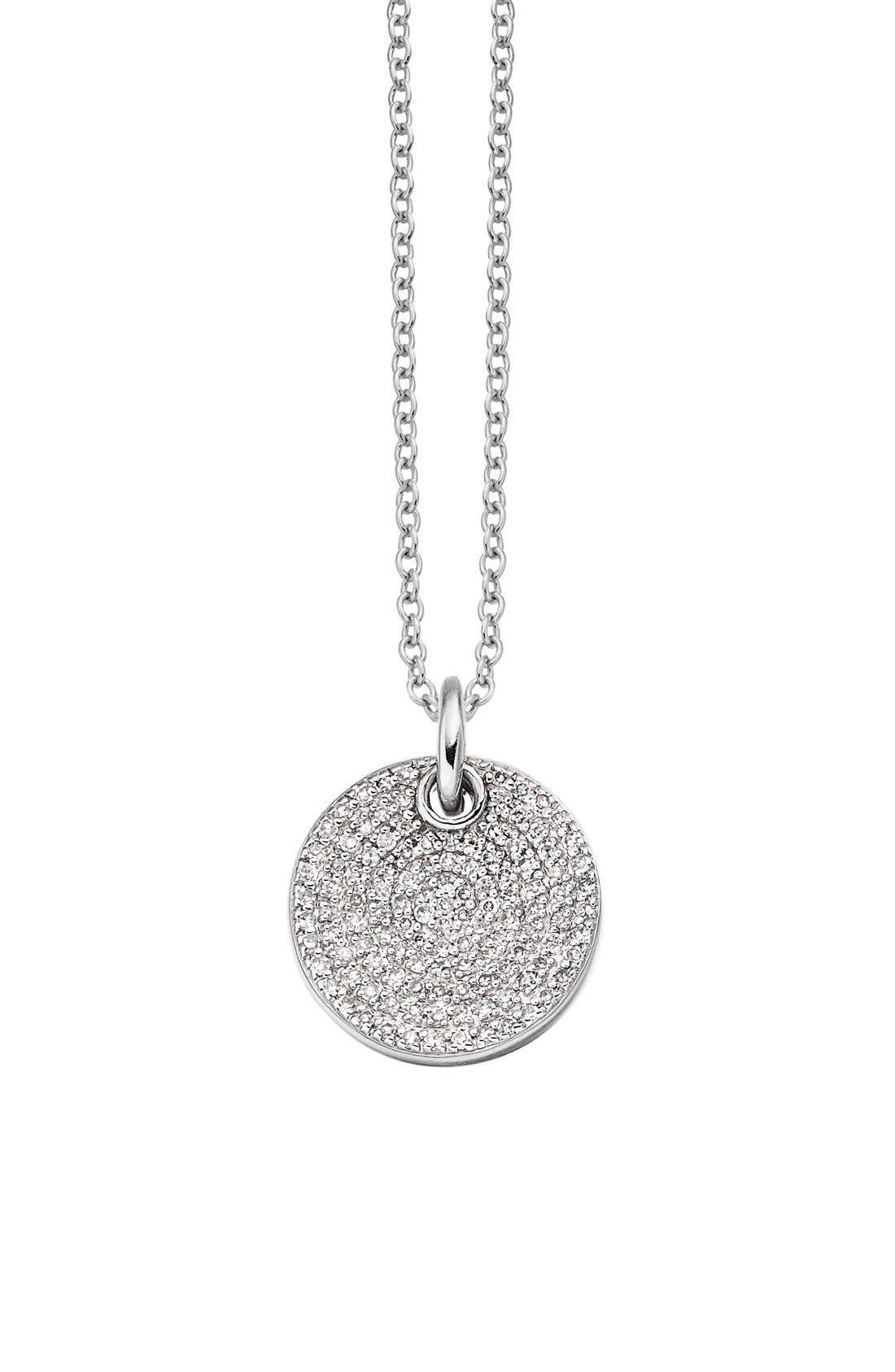 'Ava' Diamond Disc Pendant,                         Main,                         color,