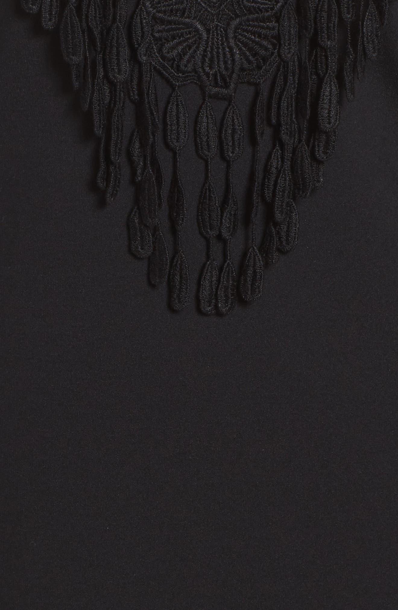 Brie Double Knit Shift Dress,                             Alternate thumbnail 5, color,                             001