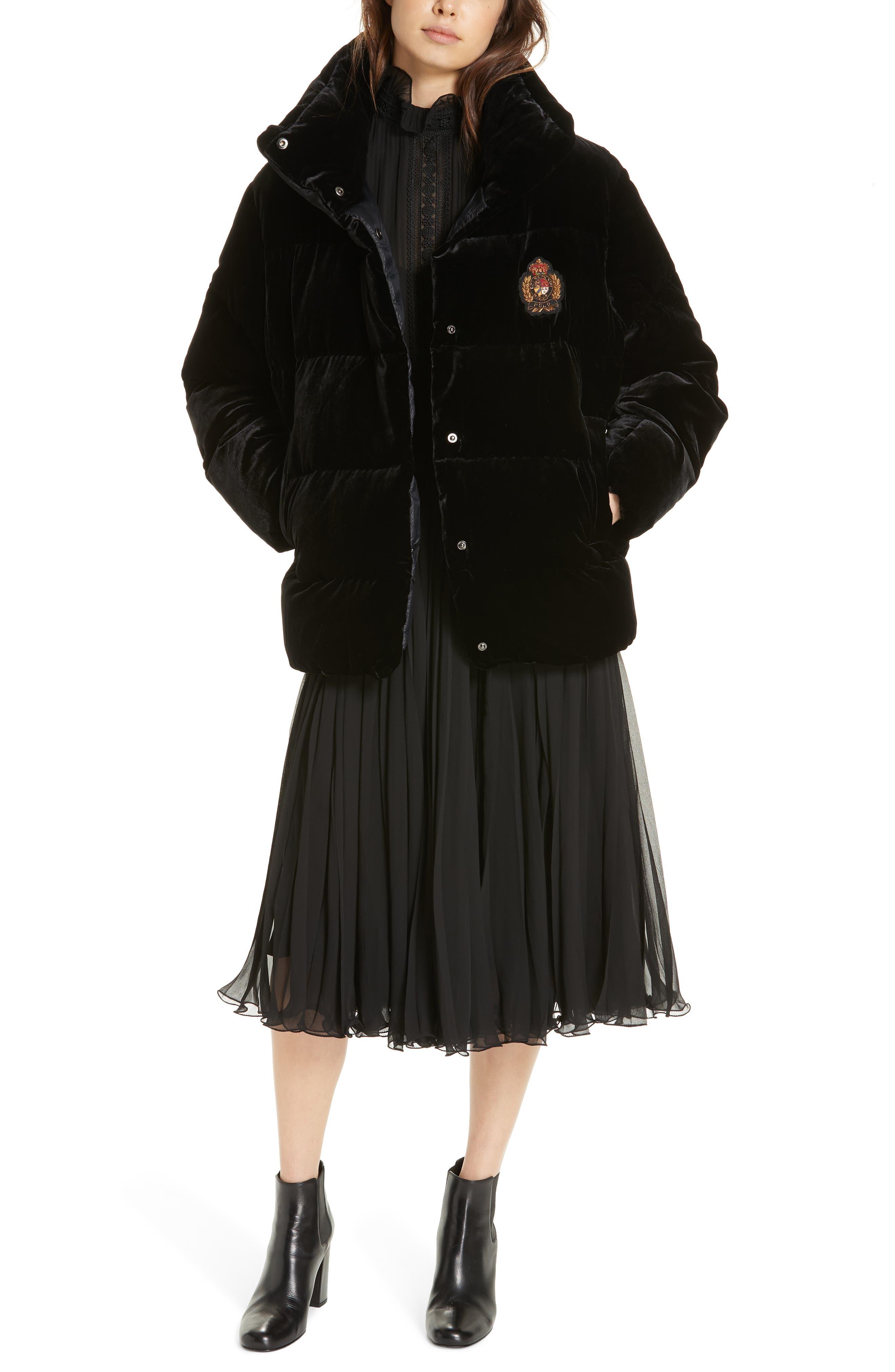 Anbele Midi Dress,                             Alternate thumbnail 7, color,                             POLO BLACK