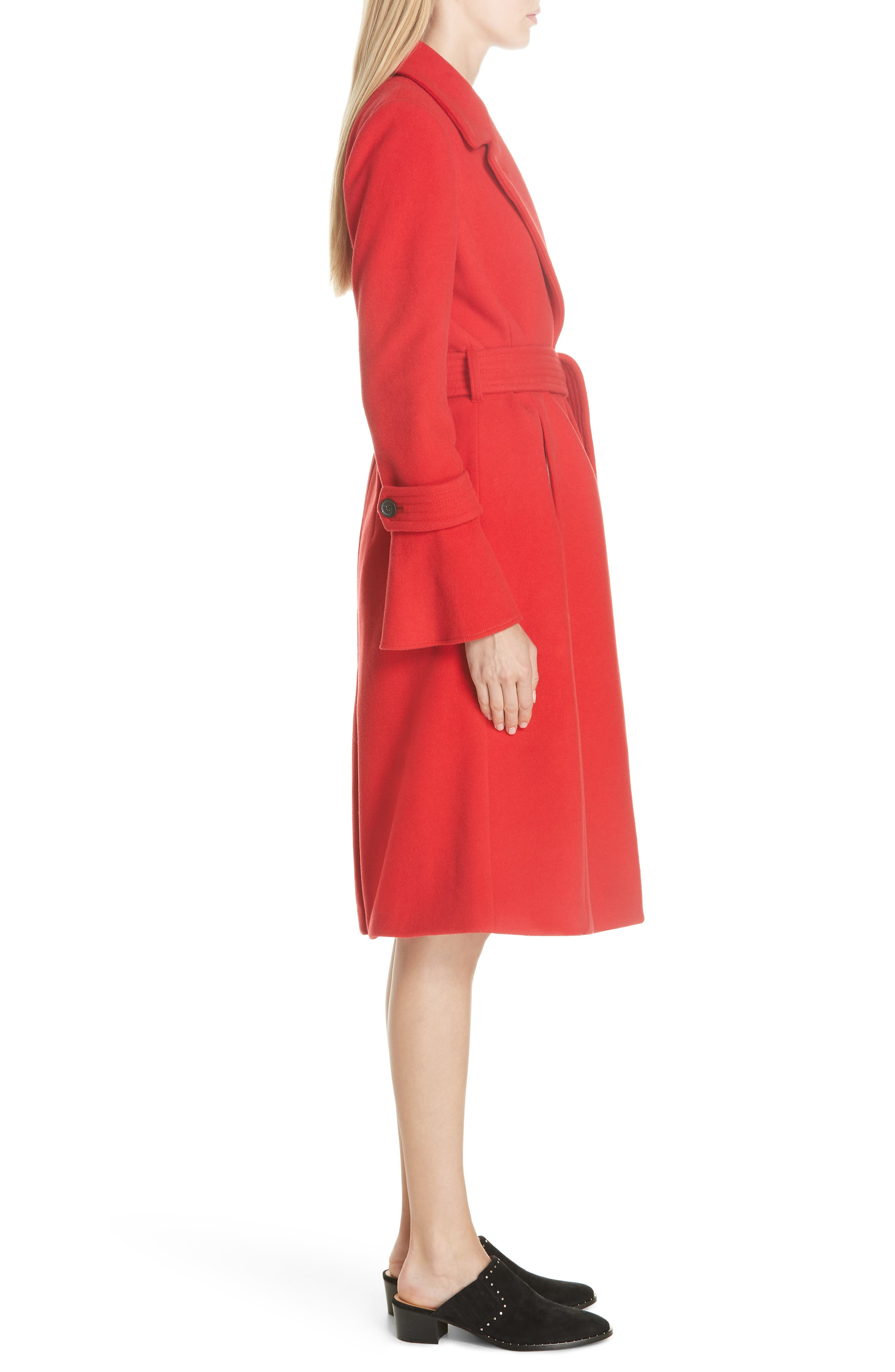 Hersilia Wool Blend Coat,                             Alternate thumbnail 3, color,                             600