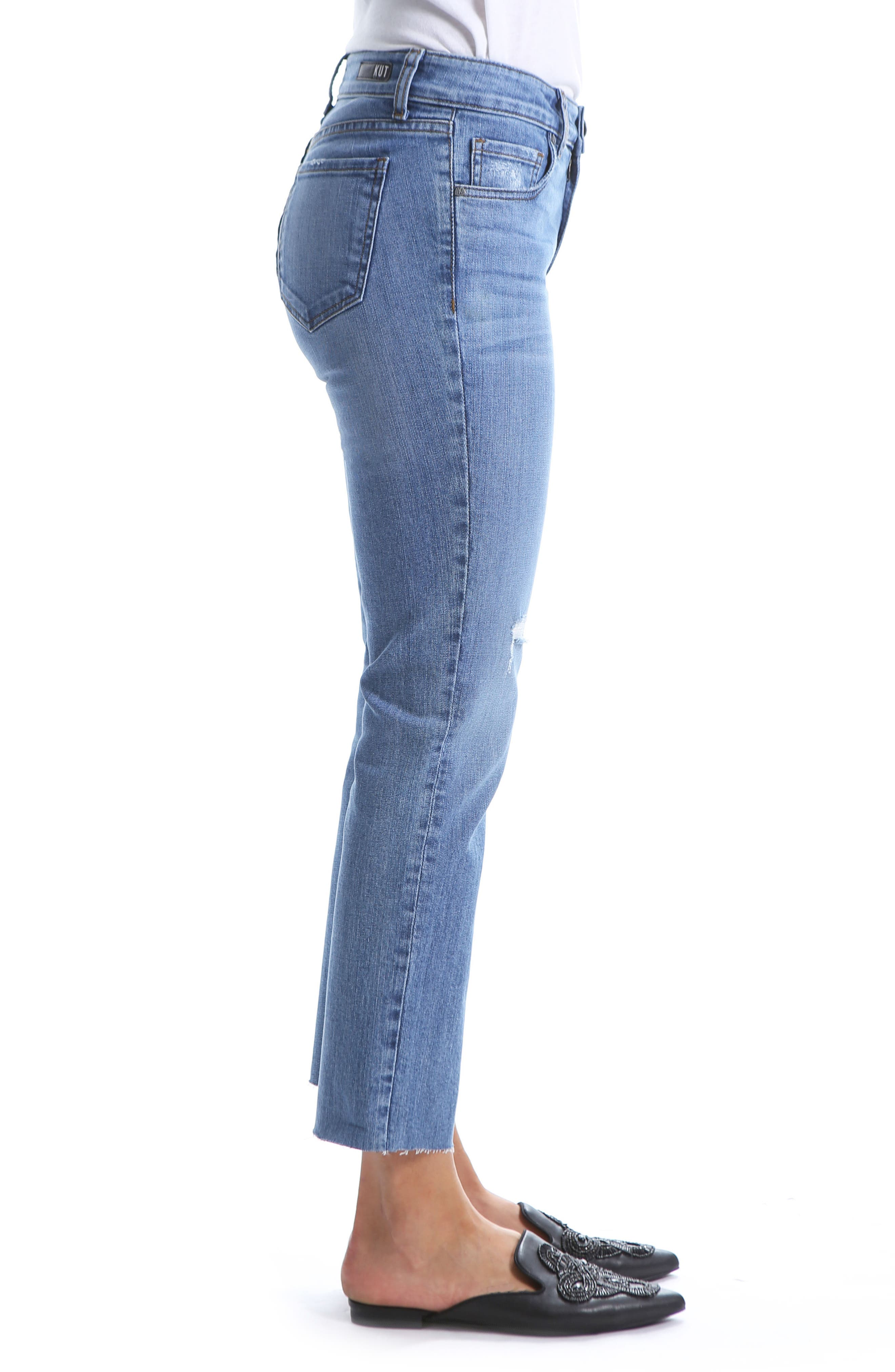 Reese Straight Leg Ankle Jeans,                             Alternate thumbnail 3, color,                             EQUILIBRIUM