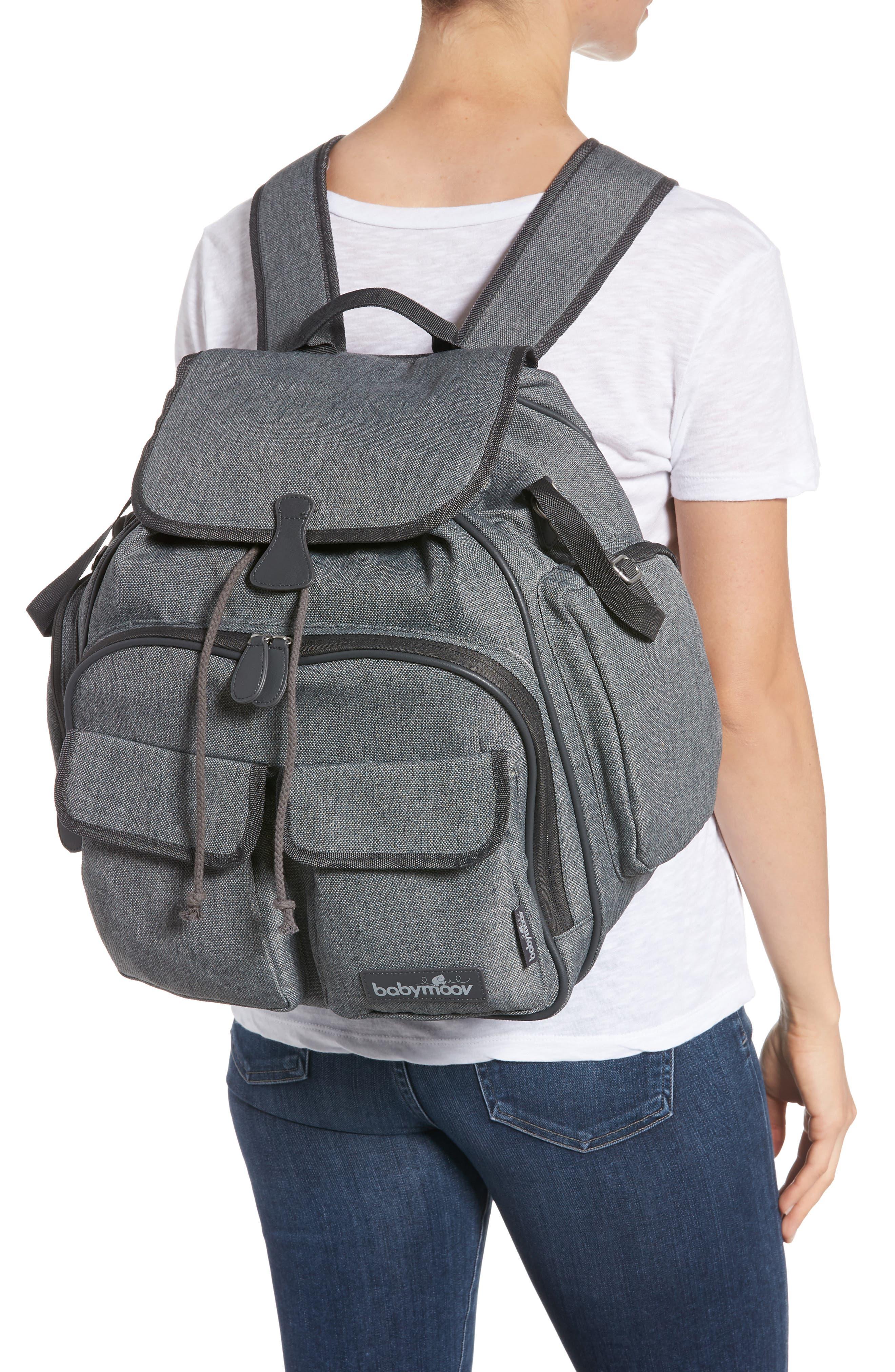 Glober Water Resistant Diaper Backpack,                             Alternate thumbnail 2, color,                             SMOKEY
