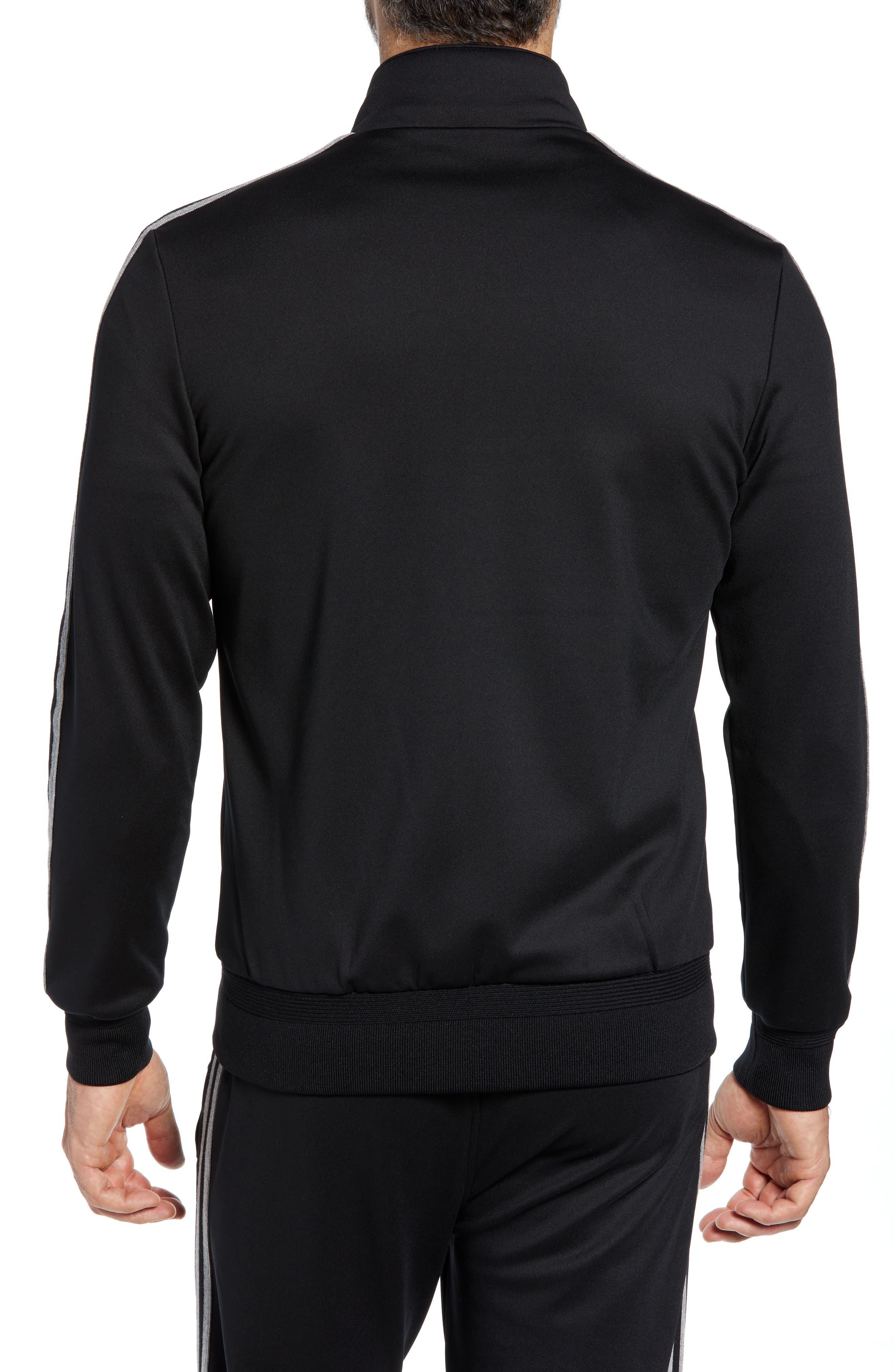 Knit Zip Jacket,                             Alternate thumbnail 2, color,                             BLACK