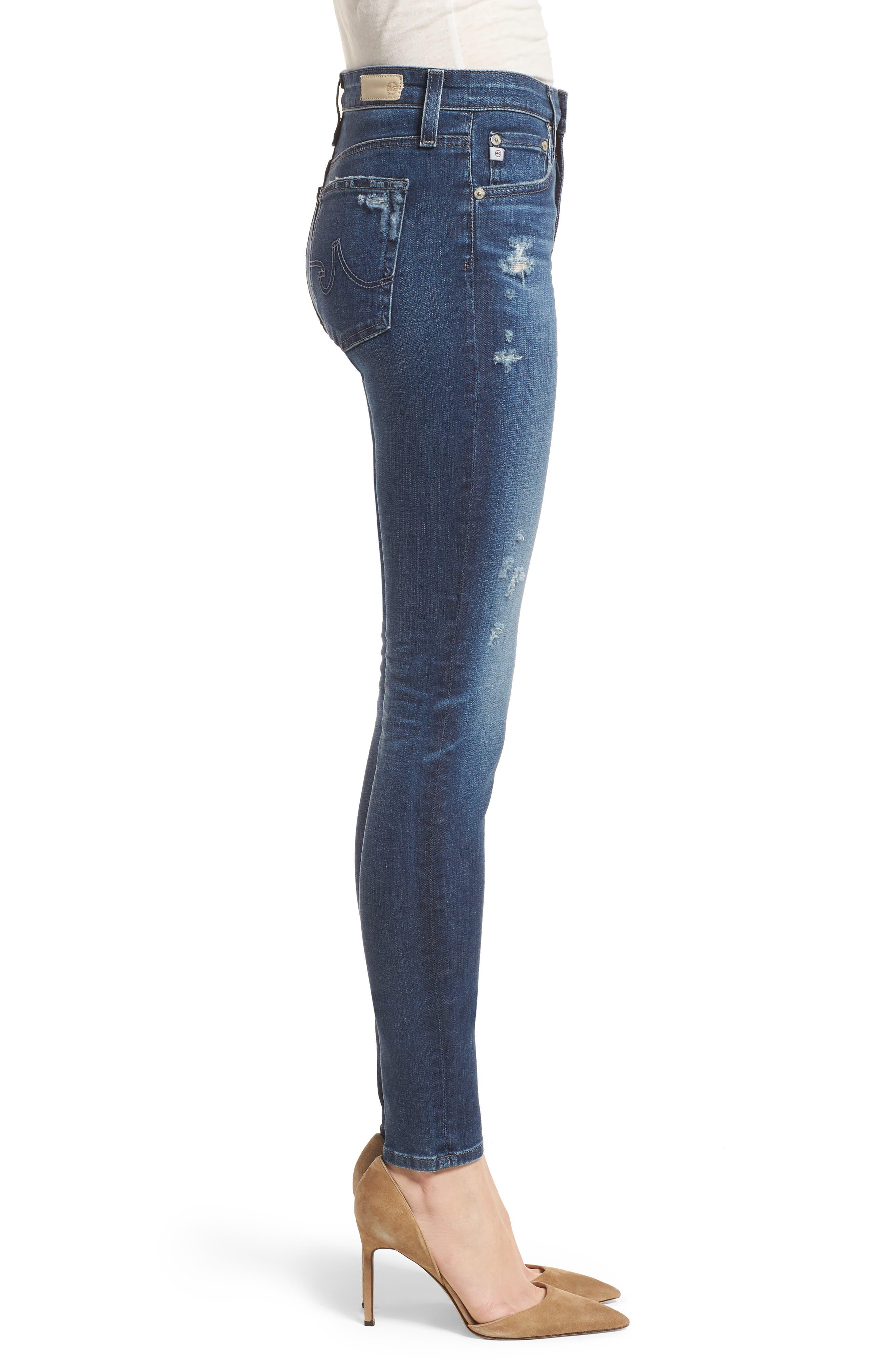 'The Farrah' High Rise Skinny Jeans,                             Alternate thumbnail 24, color,