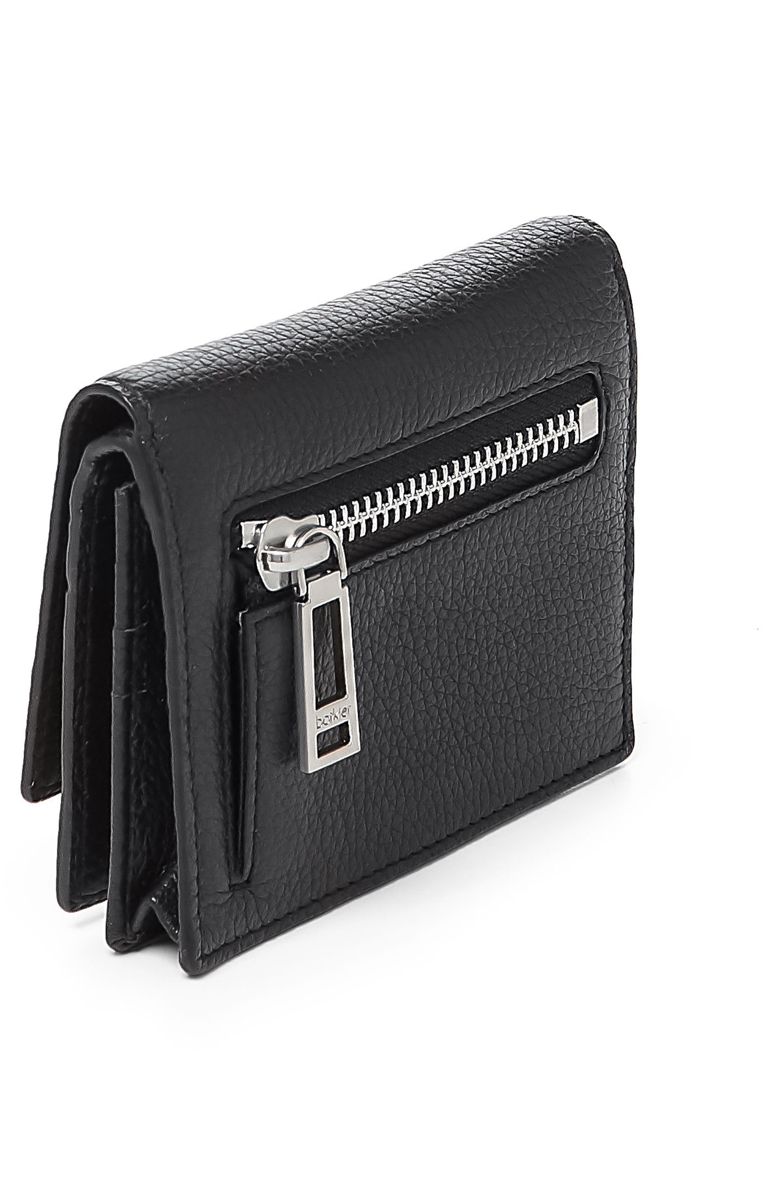 Soho Mini Leather Wallet,                             Alternate thumbnail 3, color,                             001