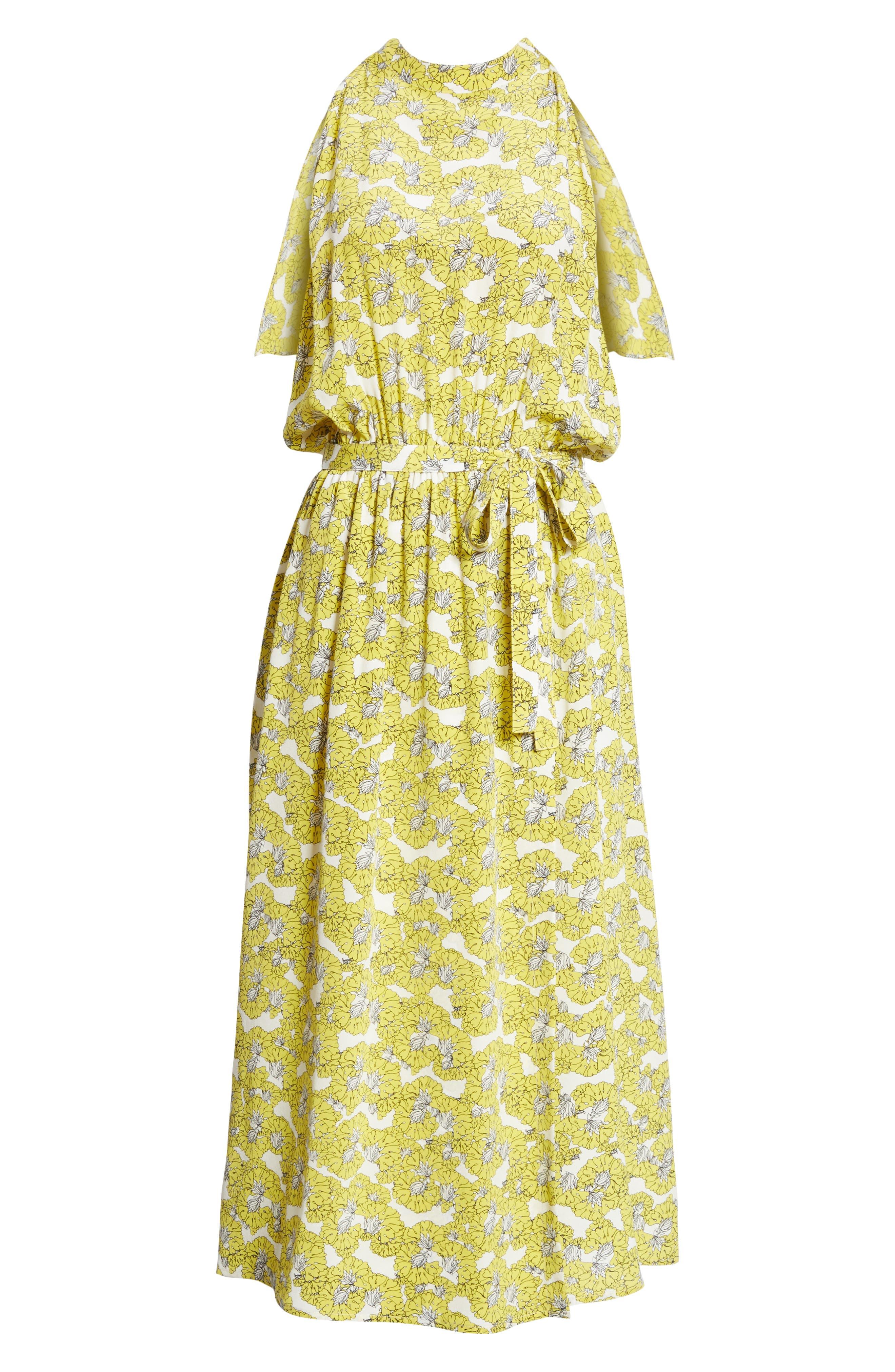 Dania Floral Print Dress,                             Alternate thumbnail 6, color,                             730