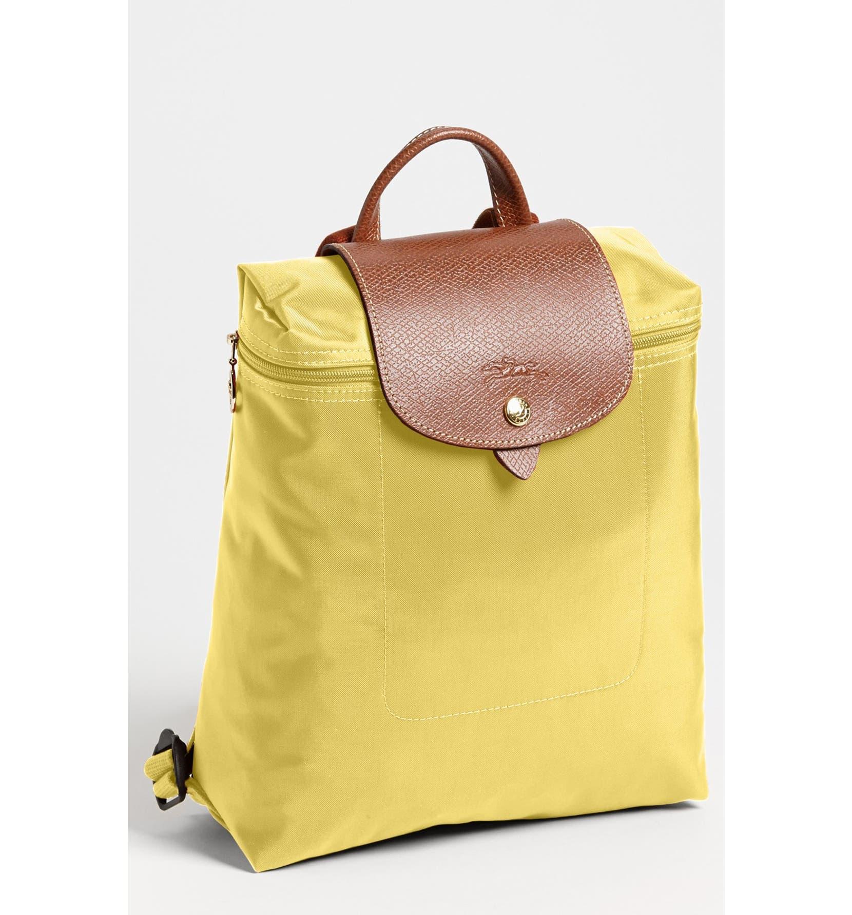 a9091e1cd8b2 Longchamp Backpack Mustard Cross Body Bag - Tradesy