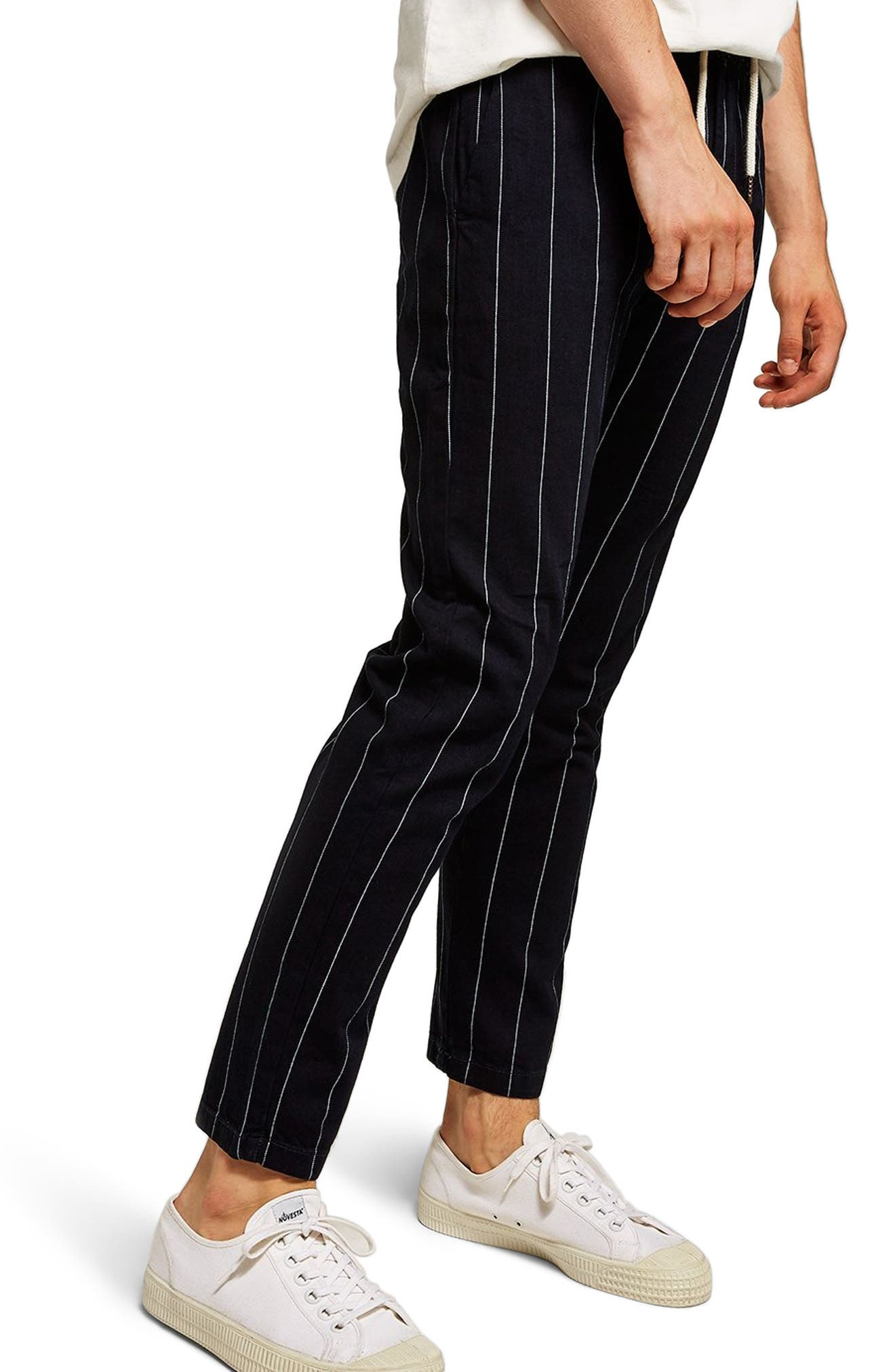 Pinstripe Skinny Trousers,                             Main thumbnail 1, color,                             411