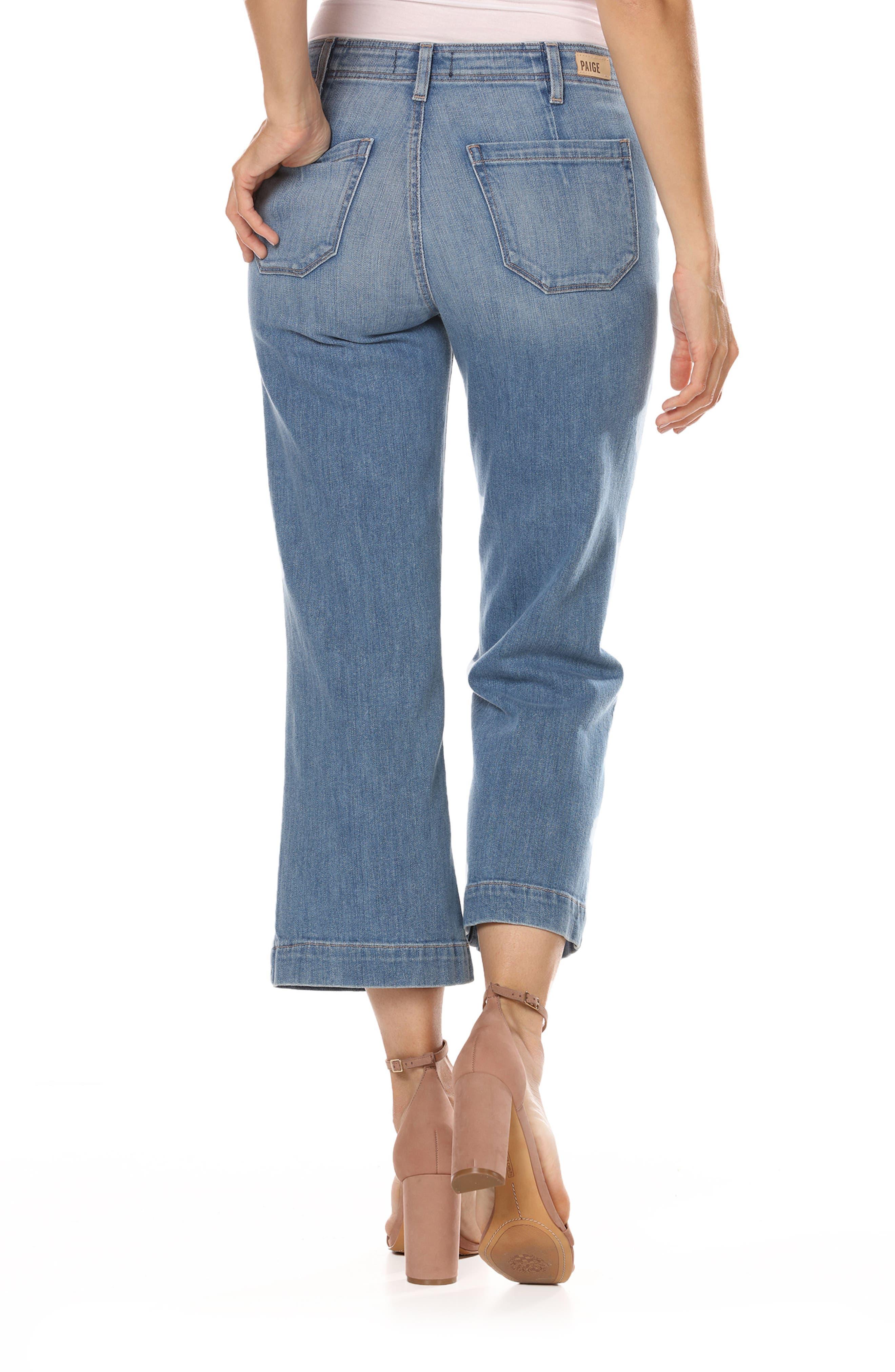 Nellie High Waist Culotte Jeans,                             Alternate thumbnail 2, color,                             400