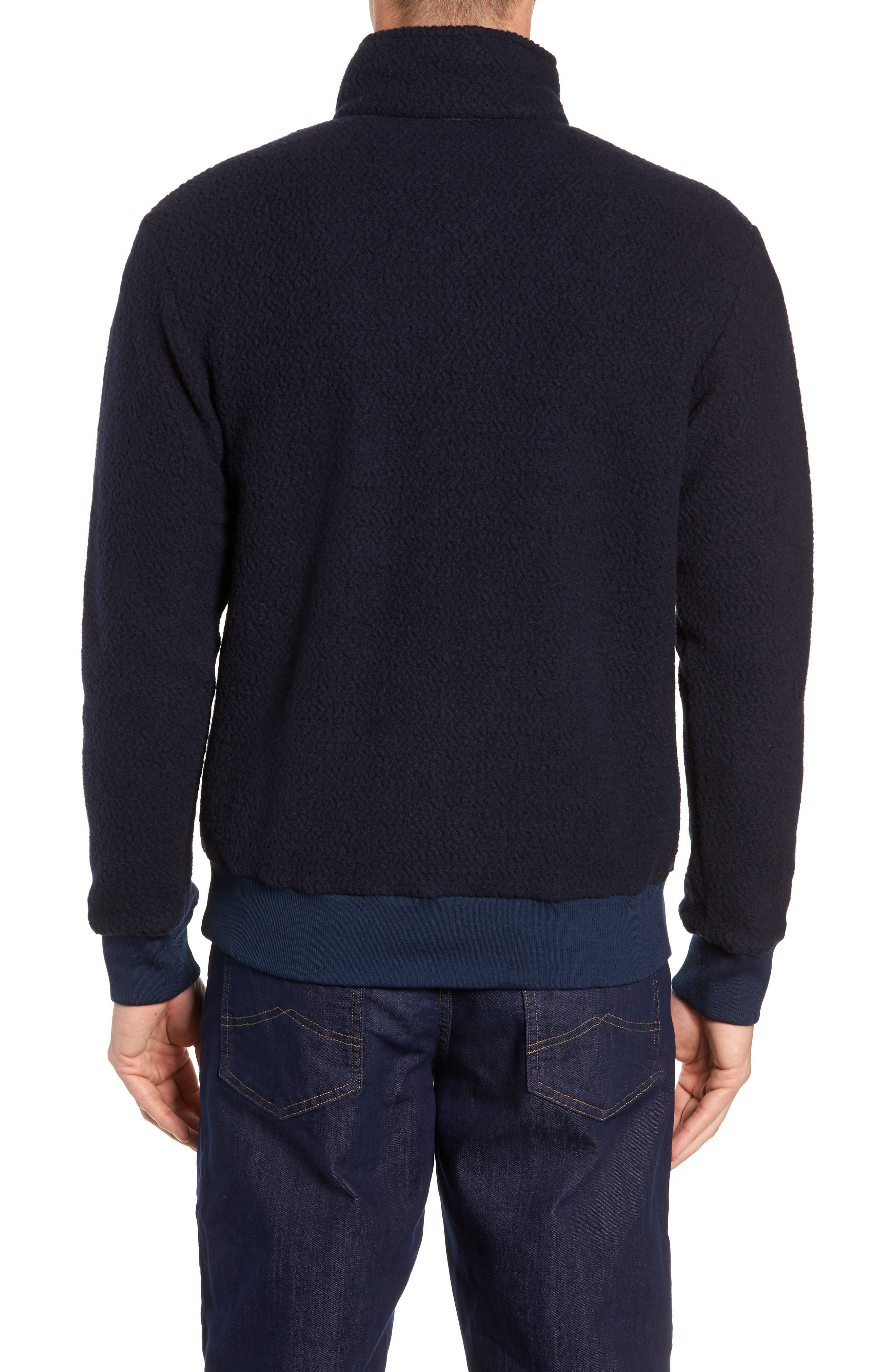 PATAGONIA,                             Woolyester Fleece Quarter Zip Pullover,                             Alternate thumbnail 2, color,                             CLASSIC NAVY