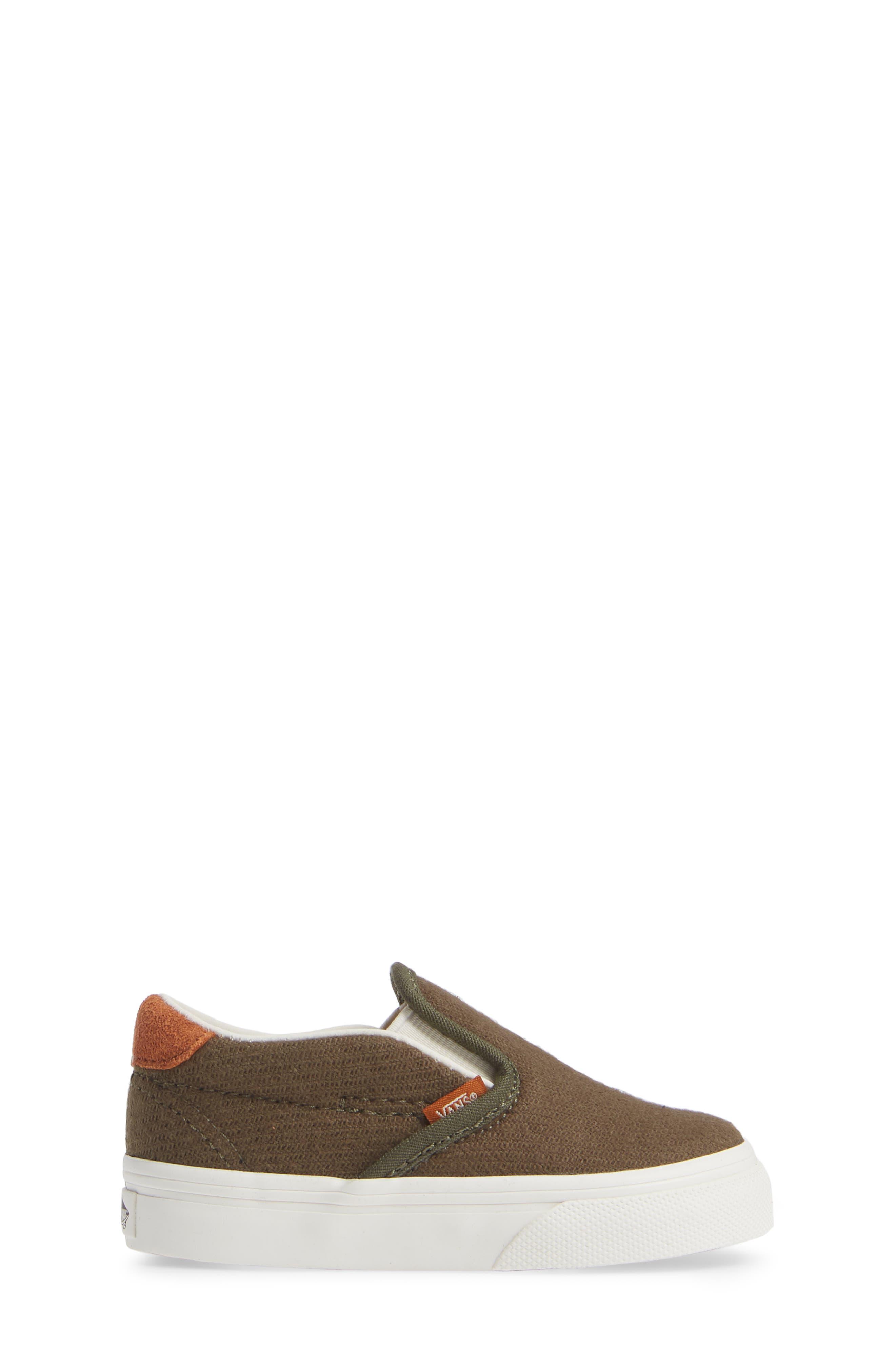59 Slip-On Sneaker,                             Alternate thumbnail 3, color,                             FLANNEL DUSTY OLIVE