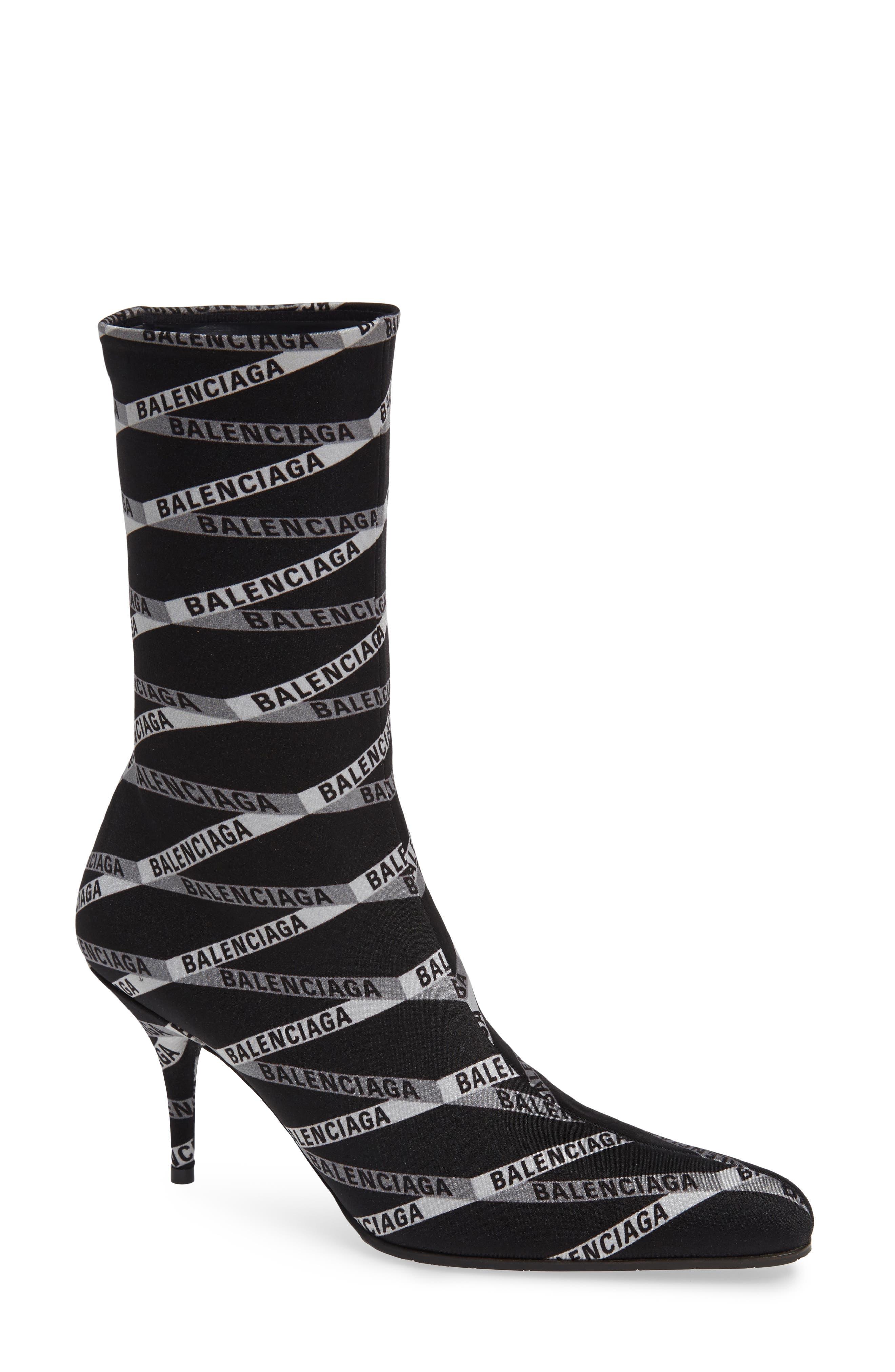 Balenciaga Logo Sock Boot - Black