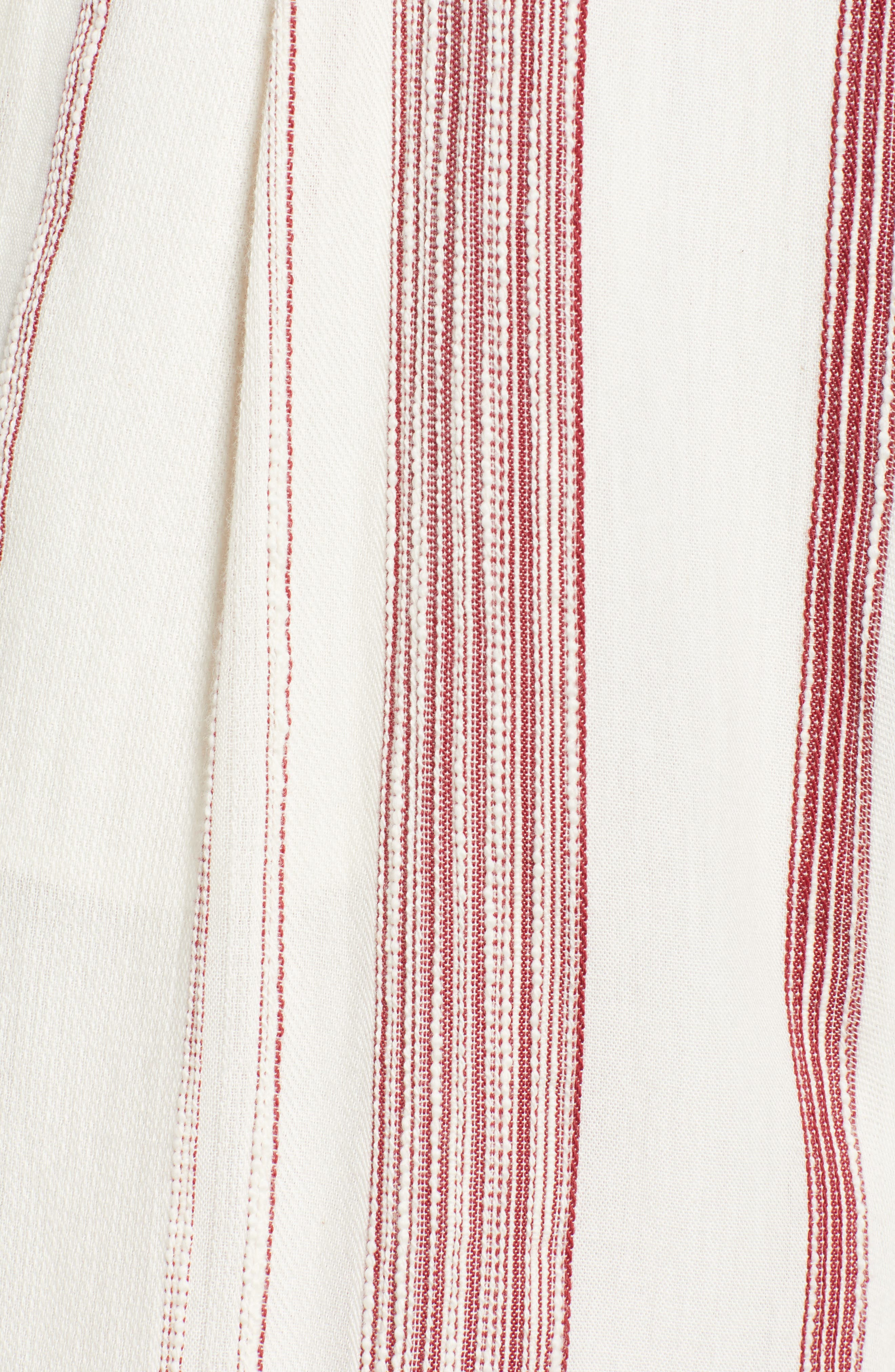 Mariana Stripe Crop Wide Leg Pants,                             Alternate thumbnail 6, color,                             600