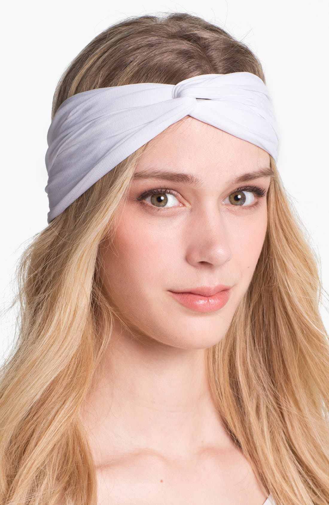 Interlock Turban Headband,                         Main,                         color, WHITE