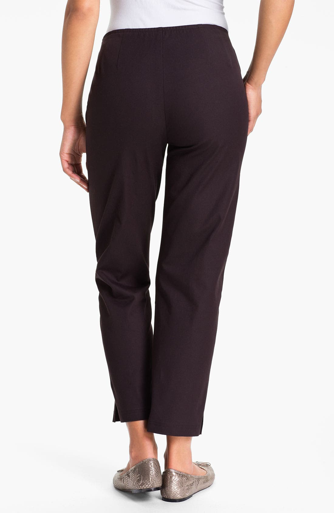 Organic Stretch Cotton Twill Ankle Pants,                             Alternate thumbnail 36, color,