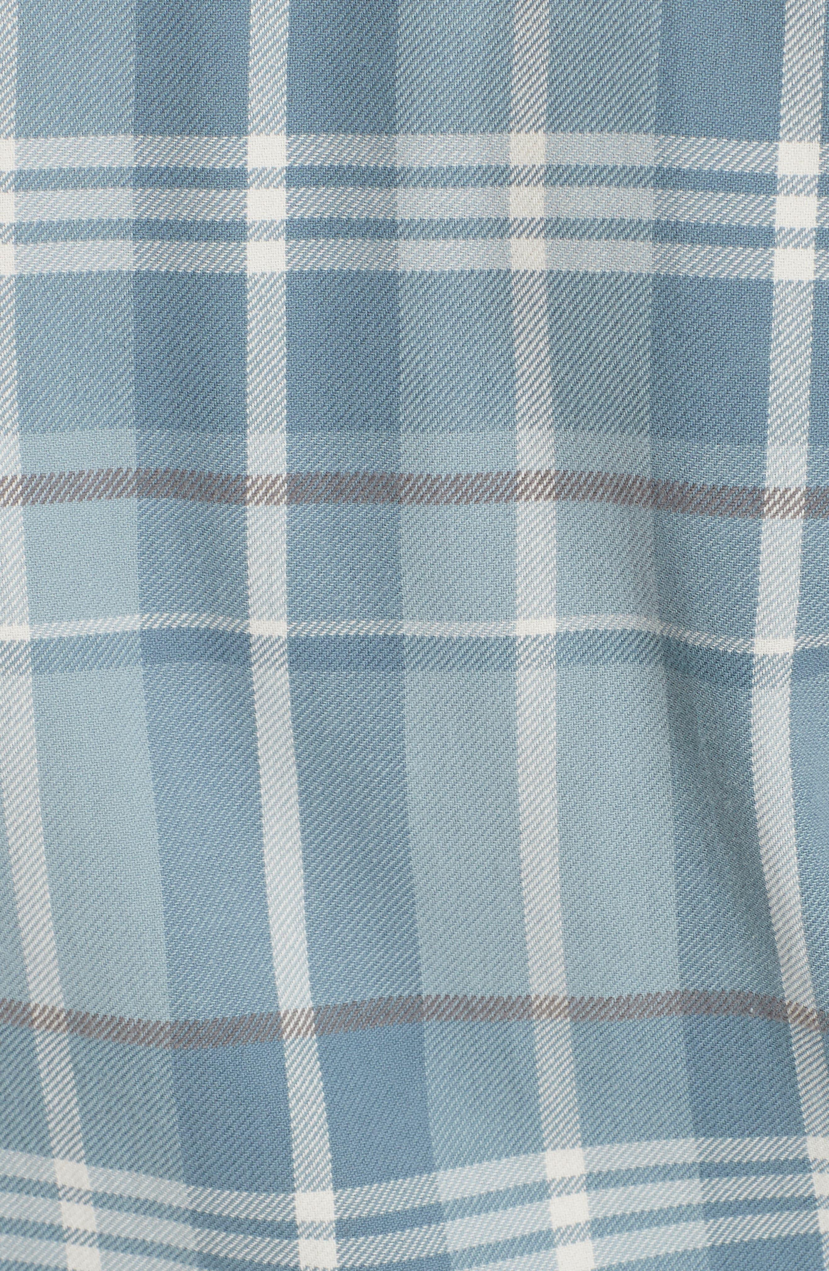 Logo Plaid Shirt,                             Alternate thumbnail 5, color,                             MEDIUM BLUE/ WHITE