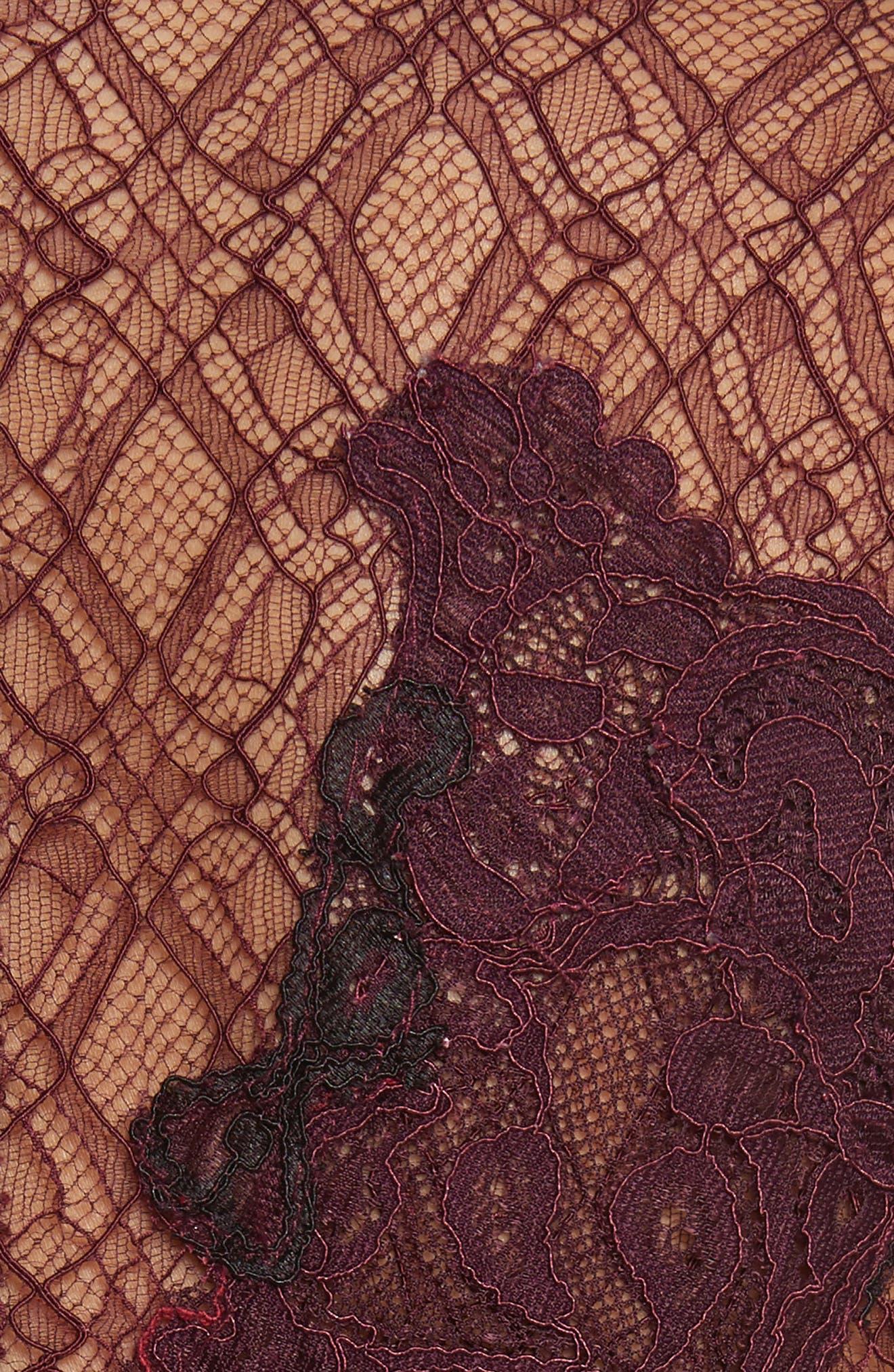 Grommet Detail Lace Dress,                             Alternate thumbnail 5, color,