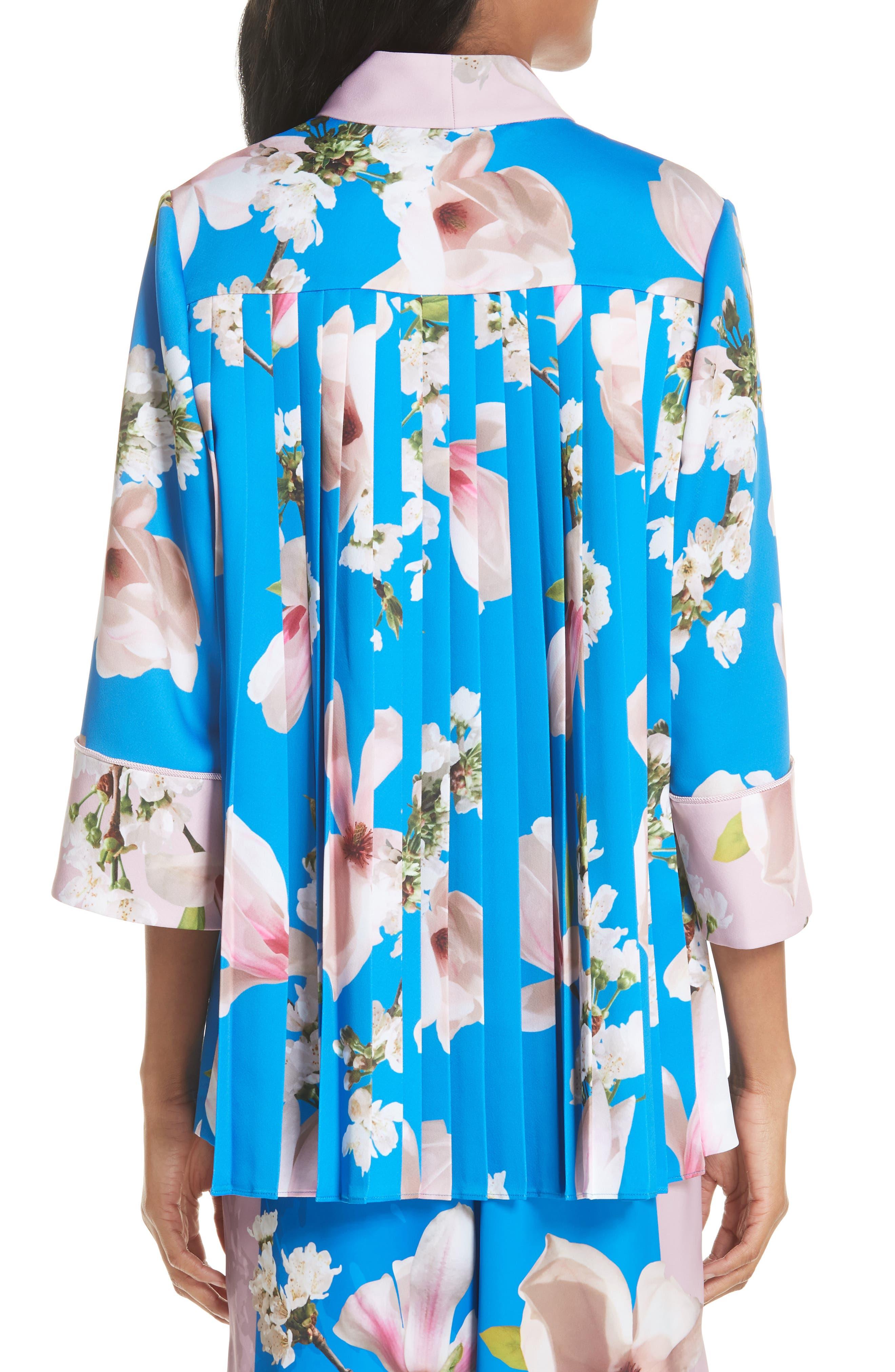 Harmony Pleat Back Kimono Jacket,                             Alternate thumbnail 2, color,
