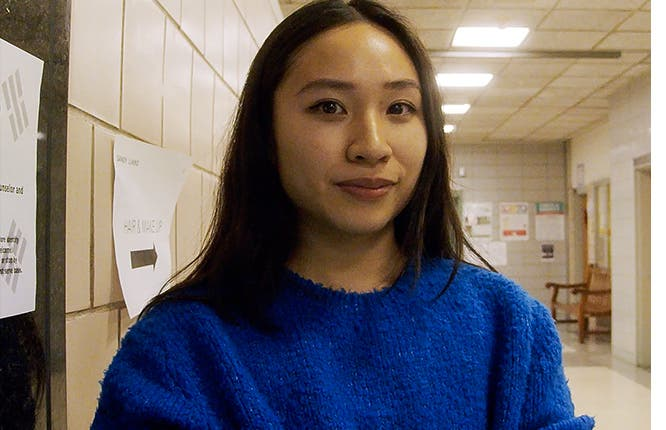 Video interview with Sandy Liang at New York Fashion Week.