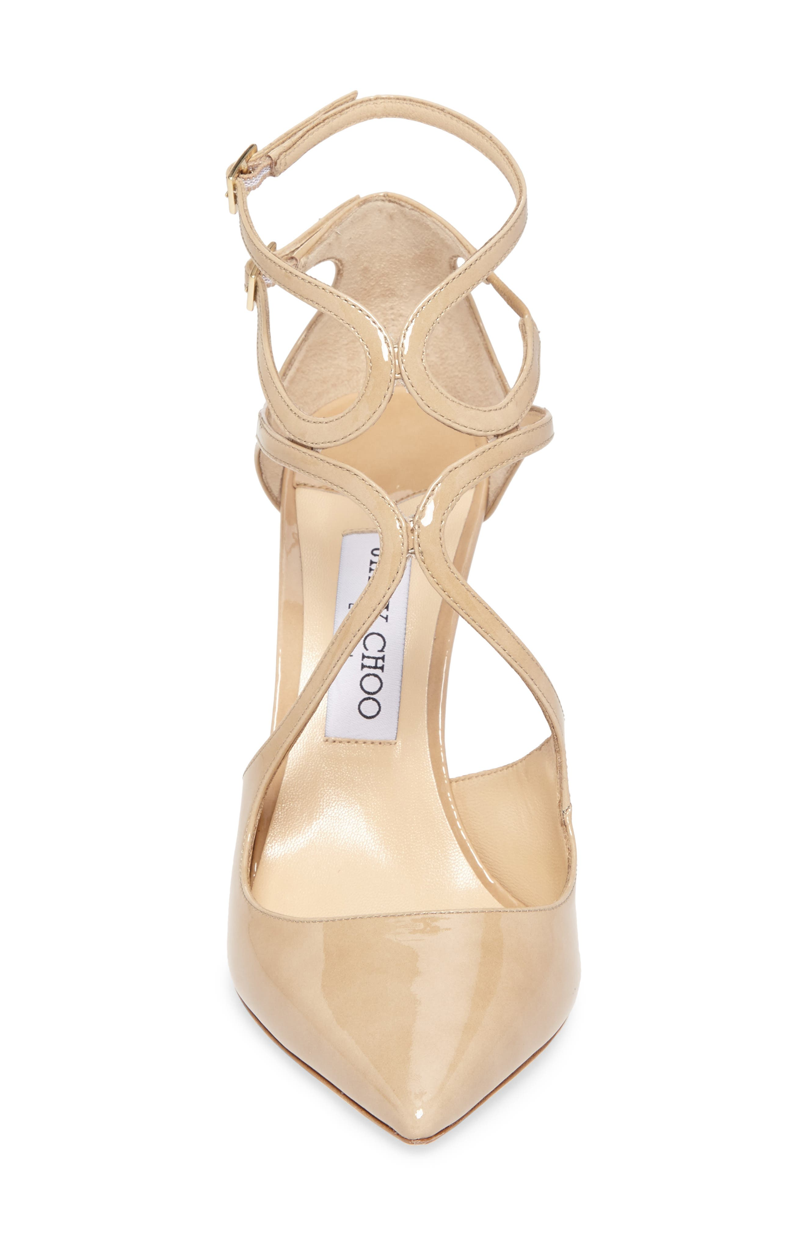 Lancer Strappy Pump,                             Alternate thumbnail 4, color,                             NUDE PATENT
