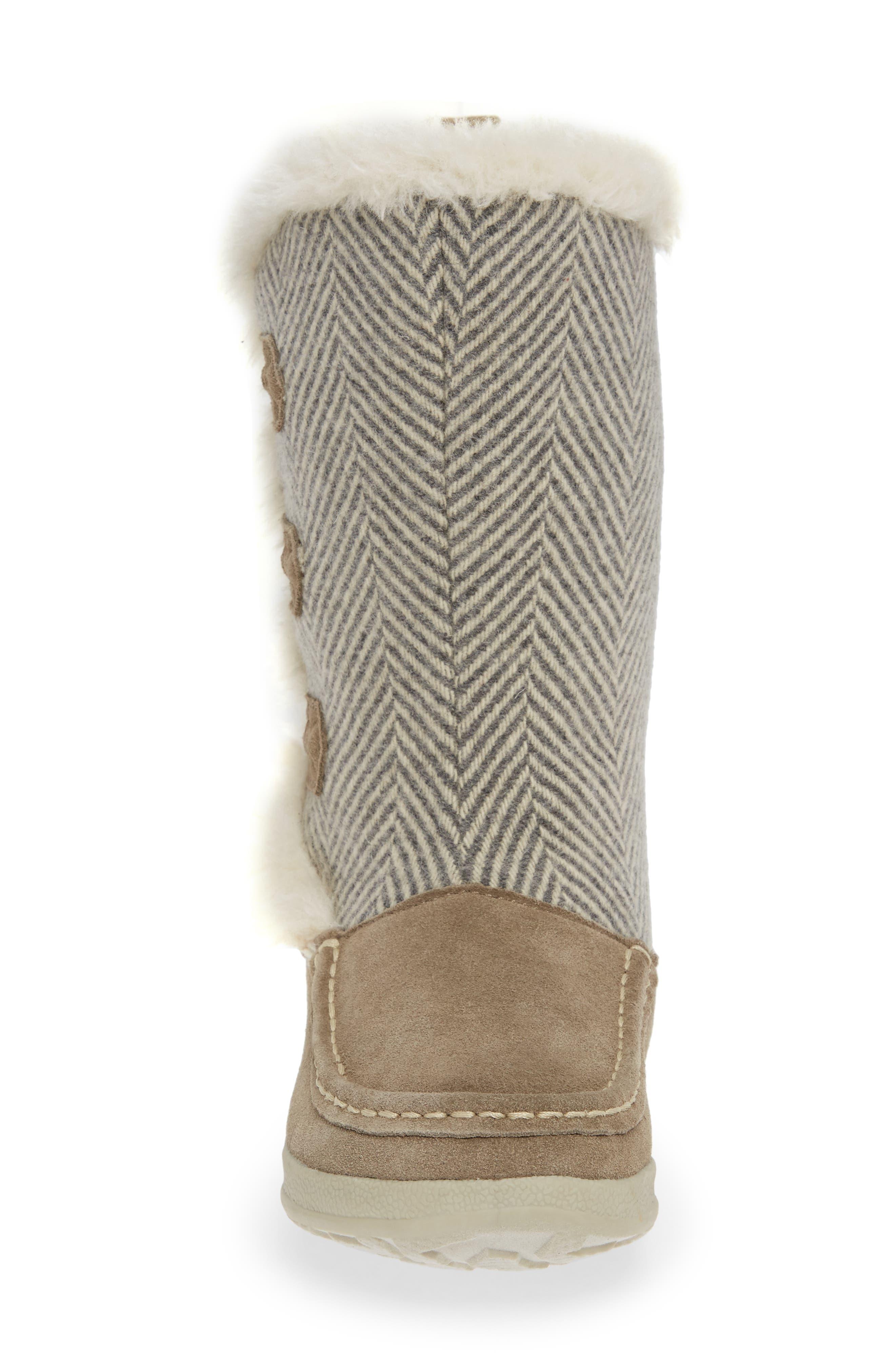 Elk Creek II Boot,                             Alternate thumbnail 4, color,                             STEEL/ HERRINGBONE SUEDE