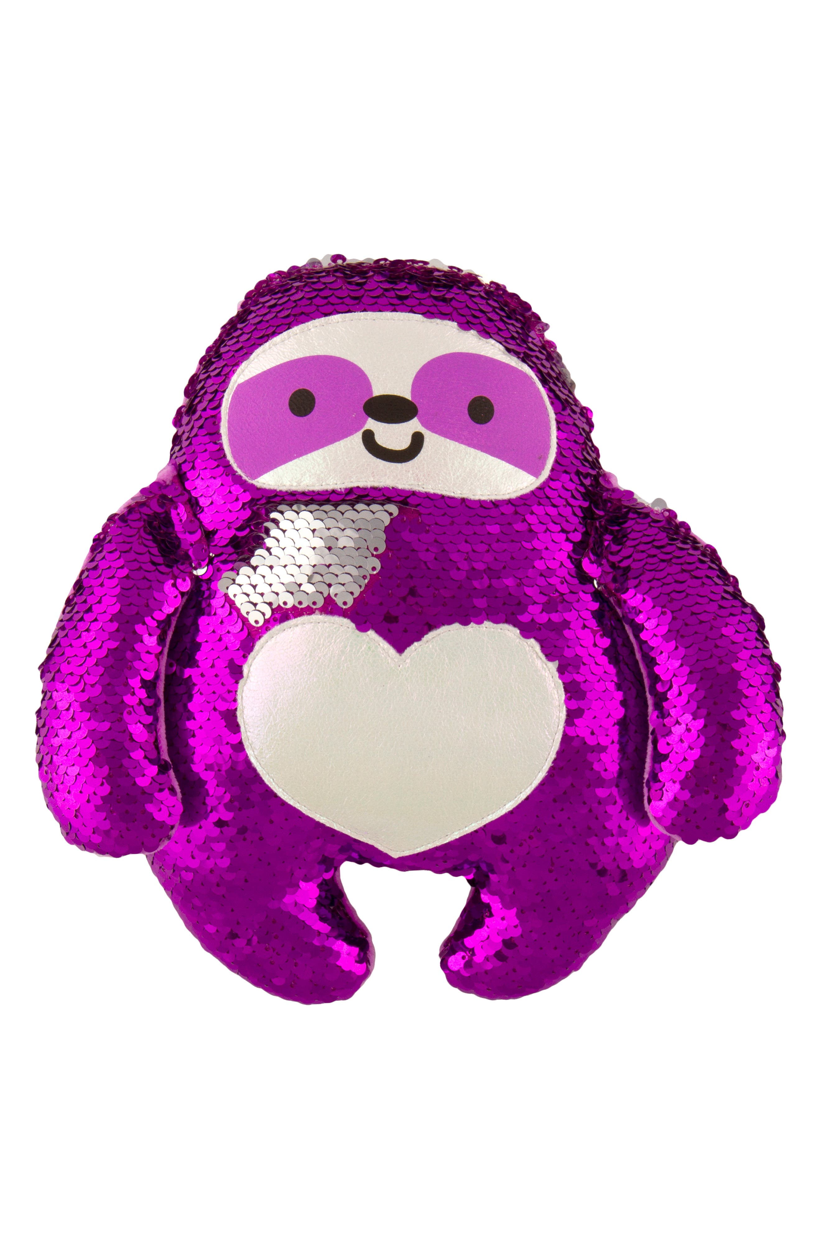 FASHION ANGELS Magic Sequin Sloth Stuffed Animal, Main, color, PURPLE