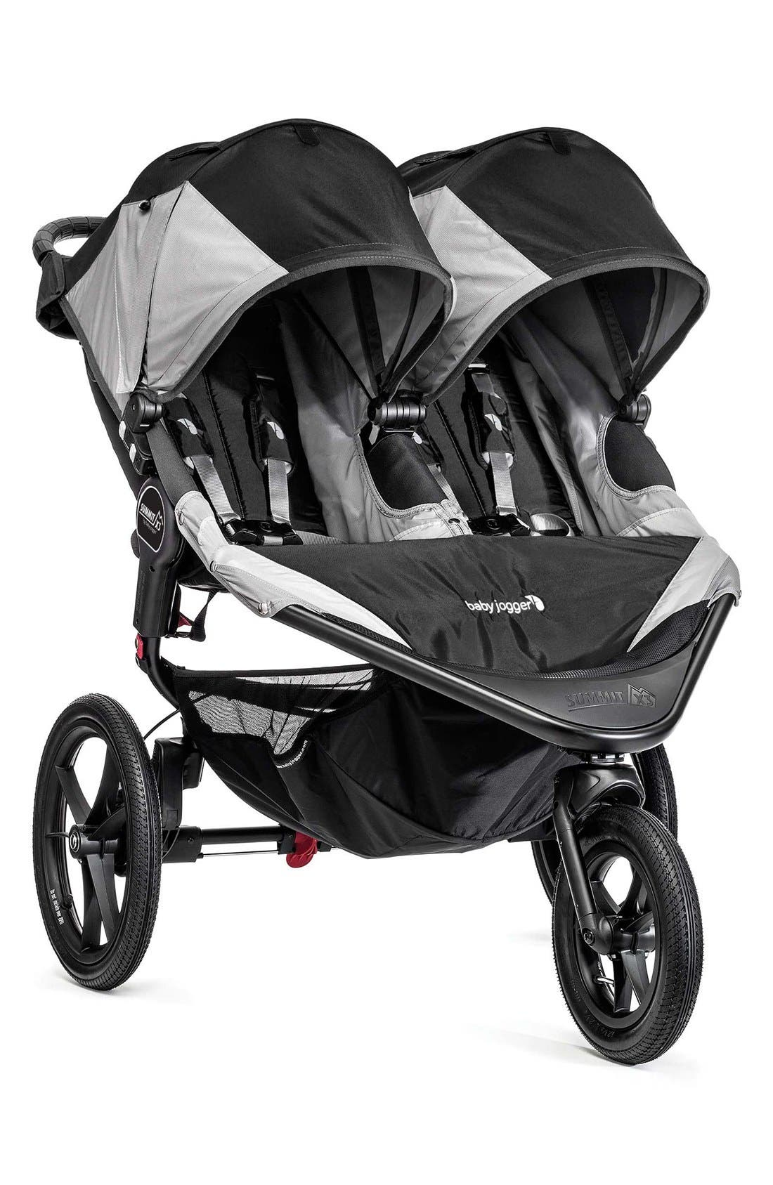 'Summit X3' Double Stroller,                             Main thumbnail 1, color,                             001