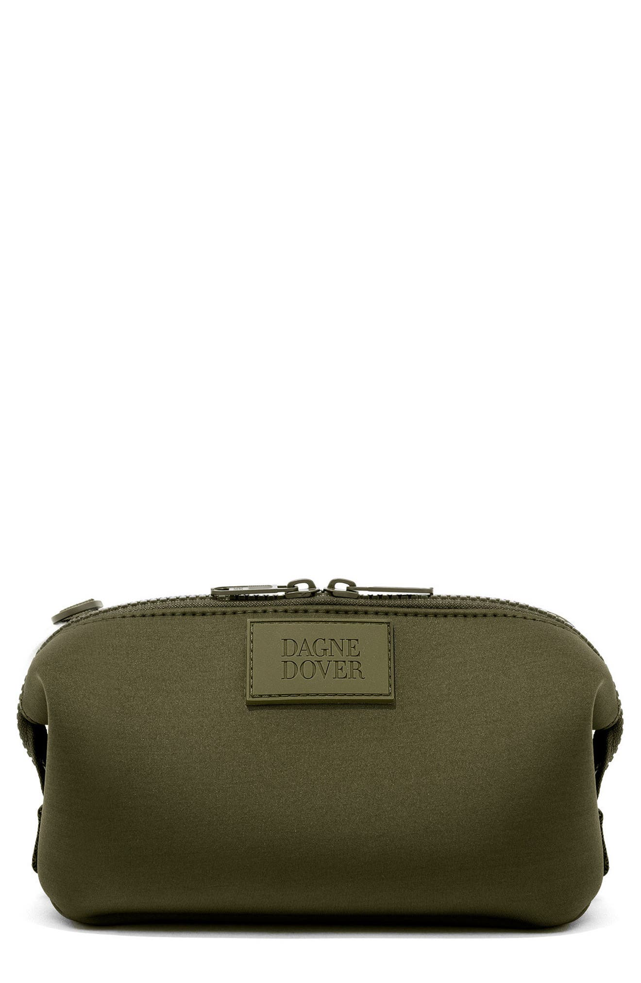Small Hunter Neoprene Toiletry Bag,                             Main thumbnail 1, color,                             DARK MOSS