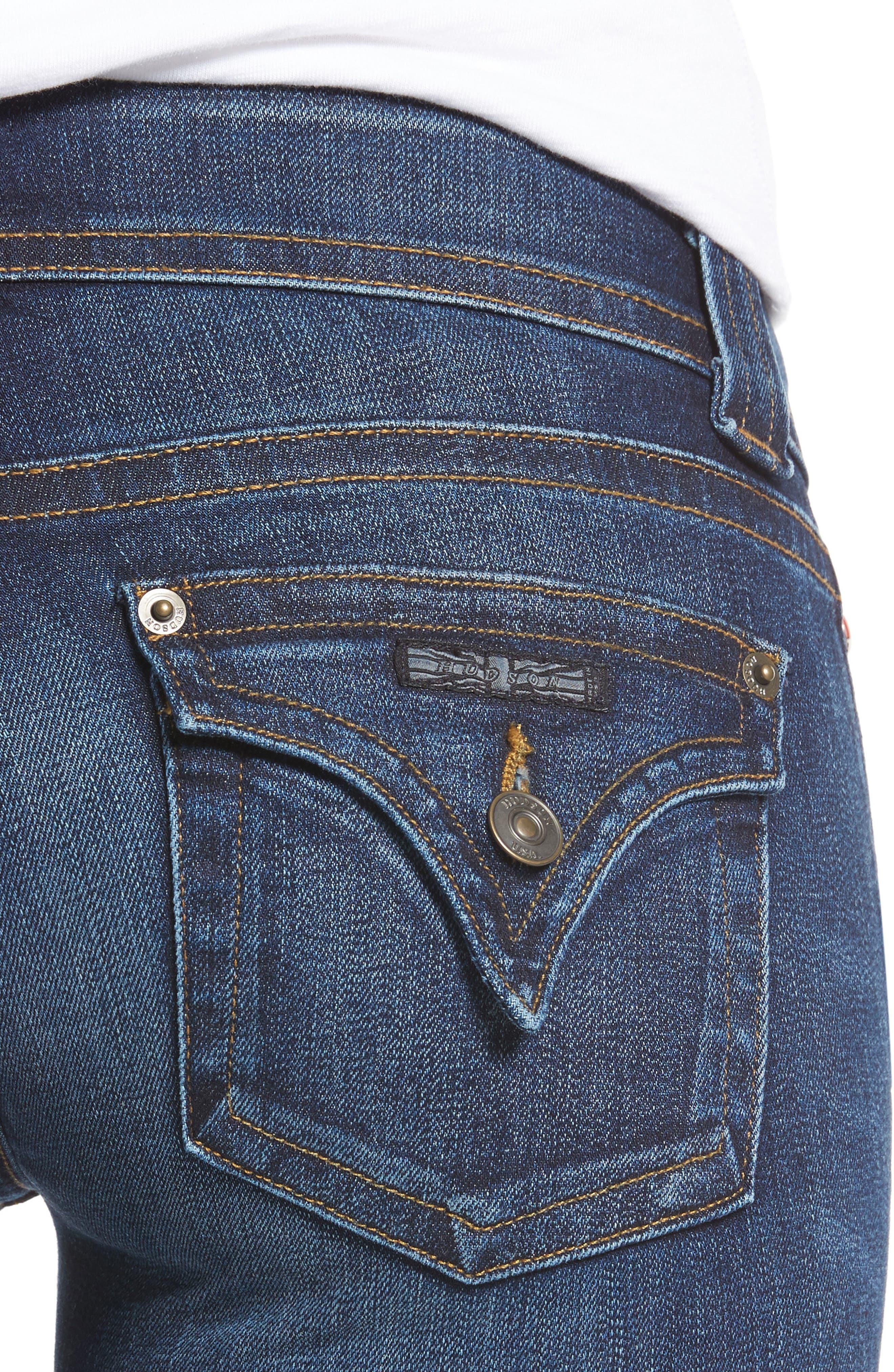 Signature Petite Bootcut Jeans,                             Alternate thumbnail 4, color,                             PATROL UNIT