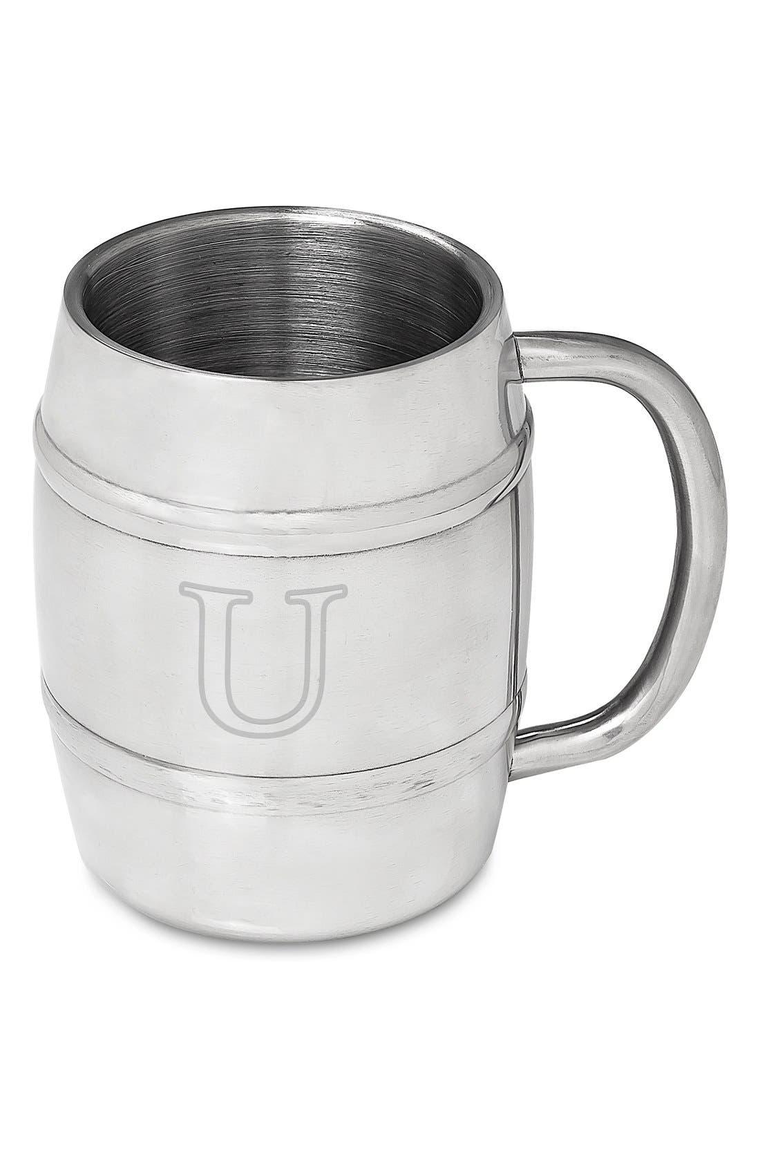 Monogram Stainless Steel Keg Mug,                             Main thumbnail 22, color,