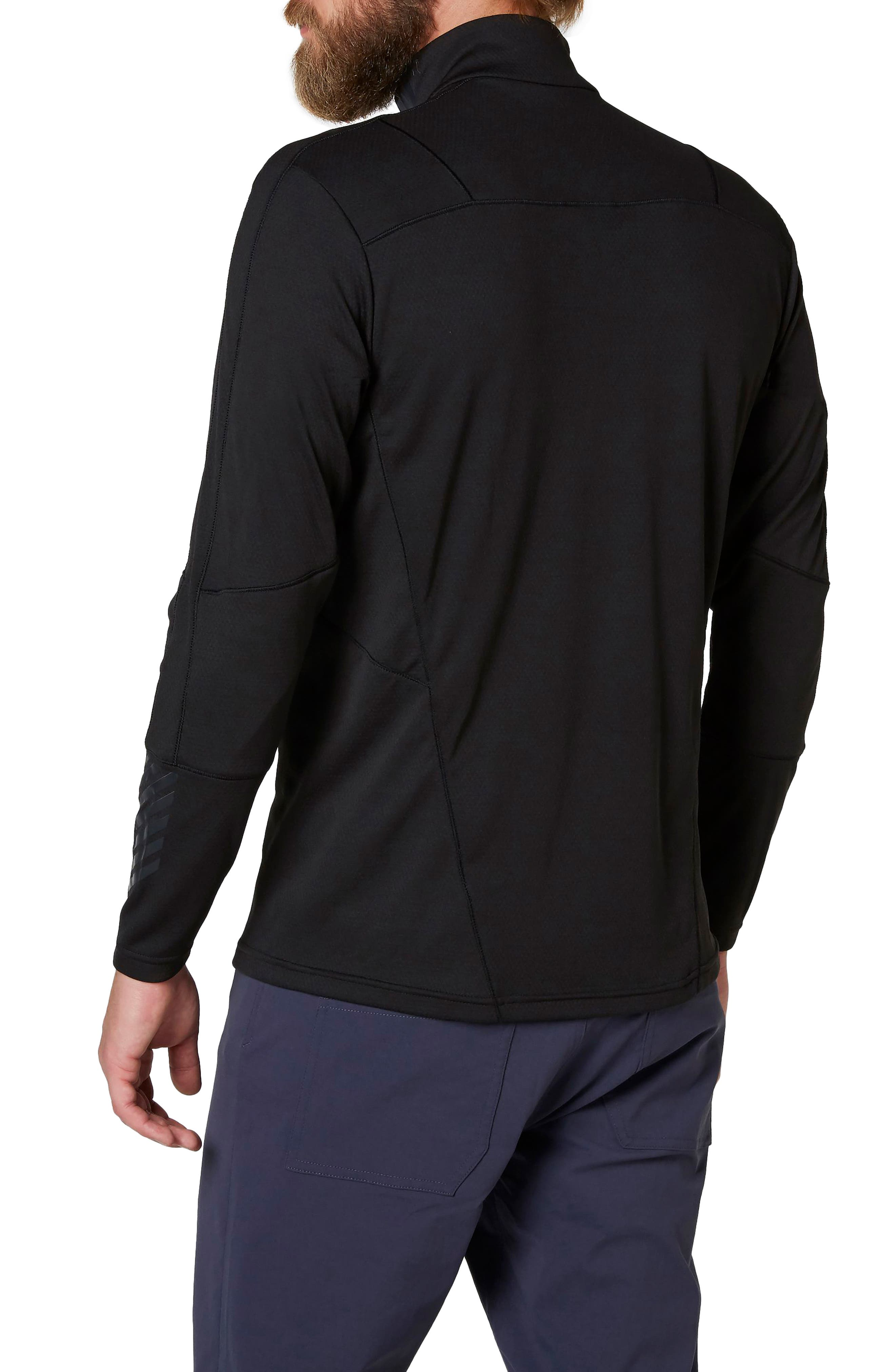 HH<sup>®</sup> Lifa Quarter Zip Pullover,                             Alternate thumbnail 2, color,                             001