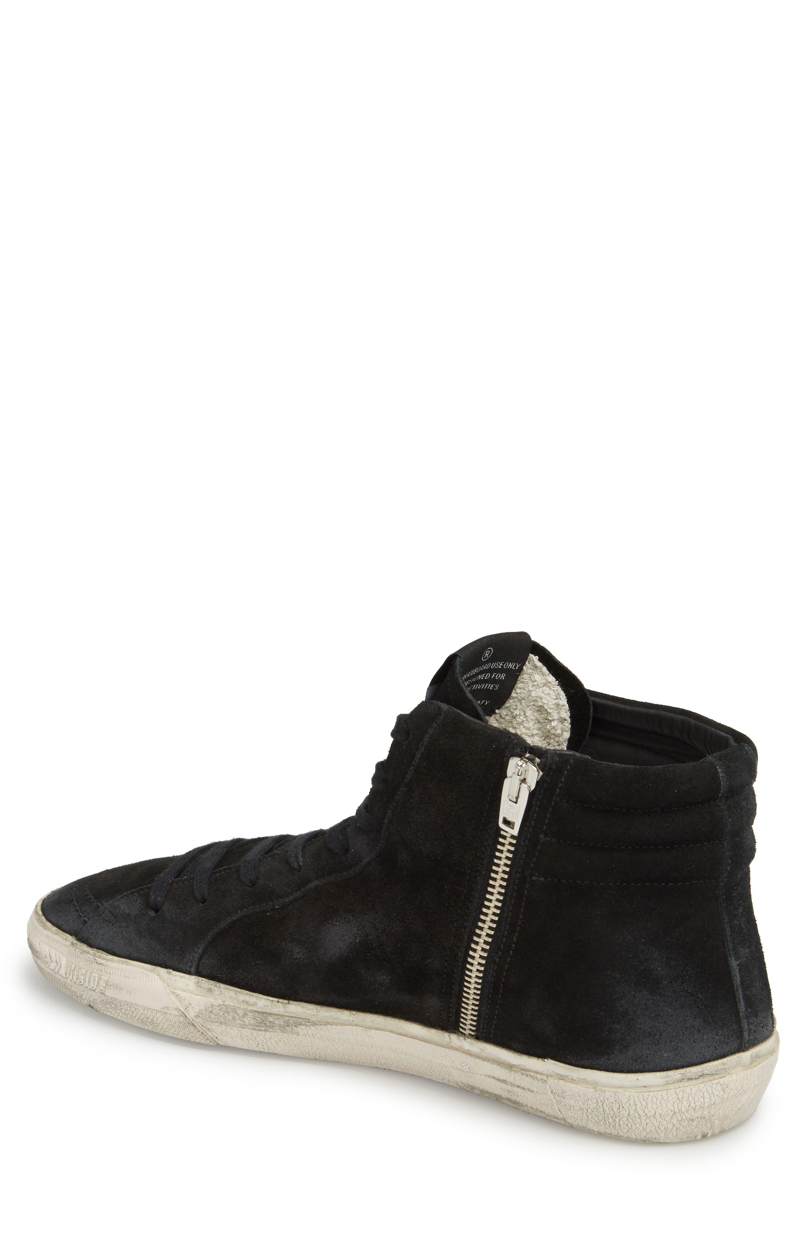 'Slide' Sneaker,                             Alternate thumbnail 2, color,                             BLACK SUEDE