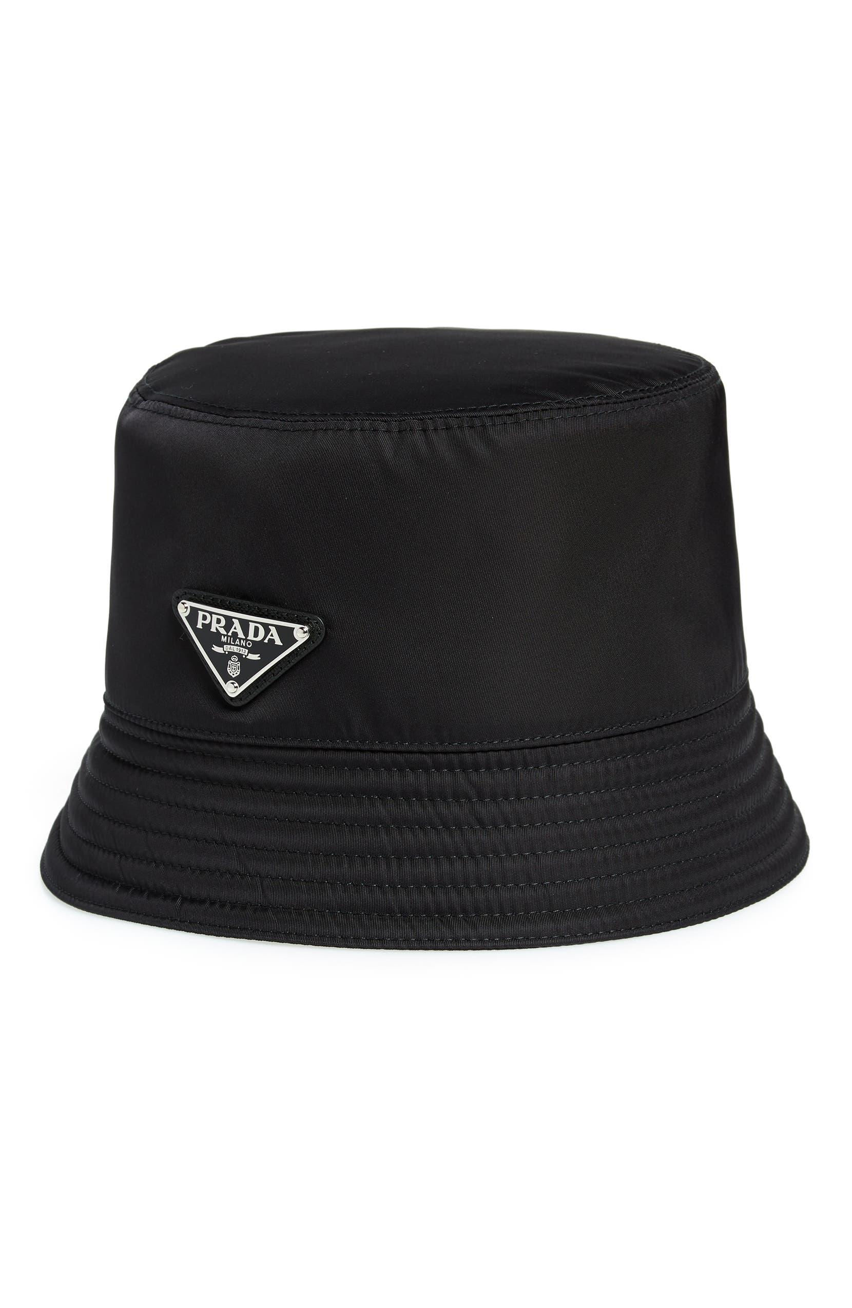 Prada Tessuto Triangolo Nylon Bucket Hat  e0f74e3b249