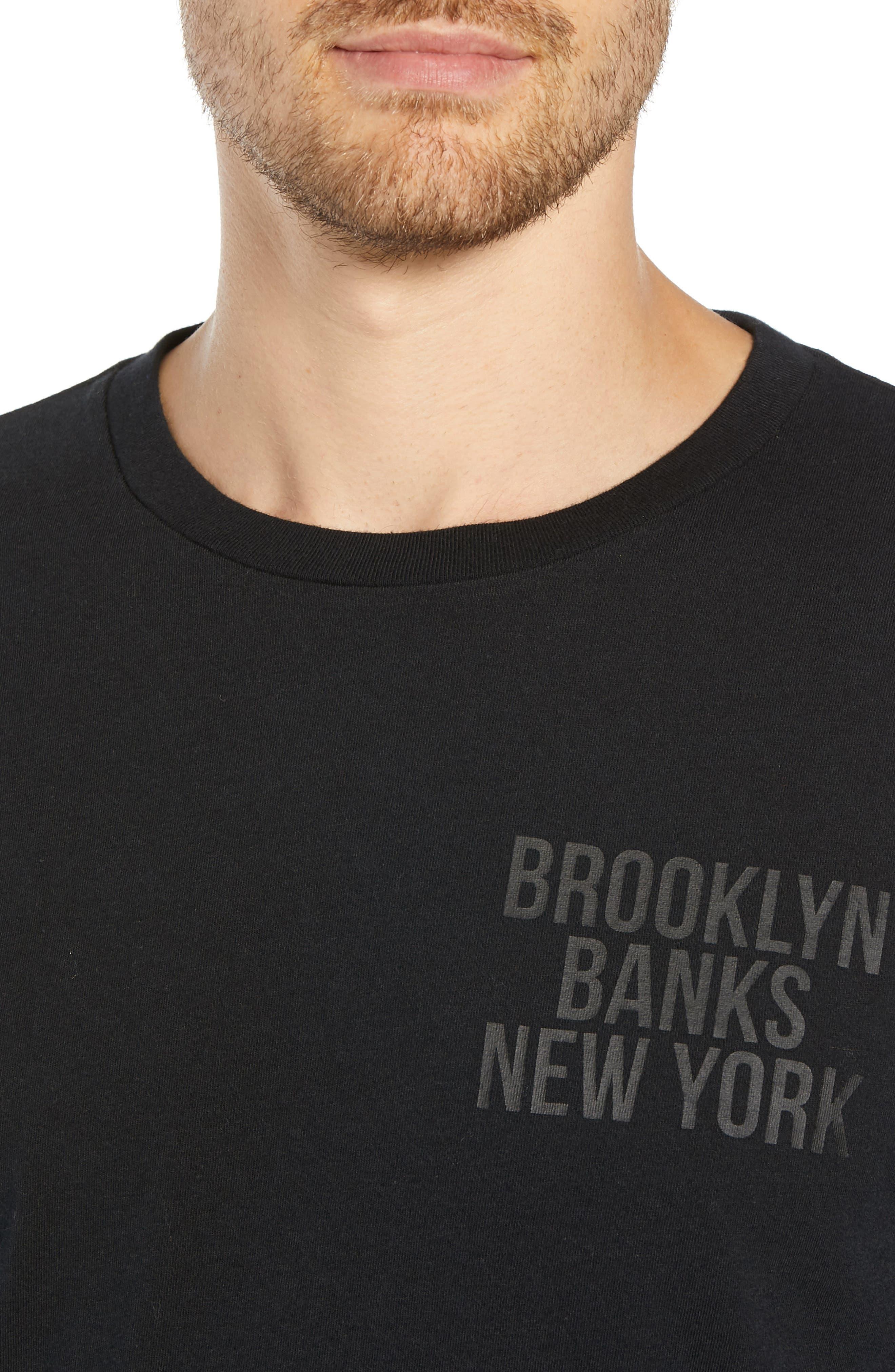 Brooklyn Banks Long Sleeve T-Shirt,                             Alternate thumbnail 4, color,                             BLACK