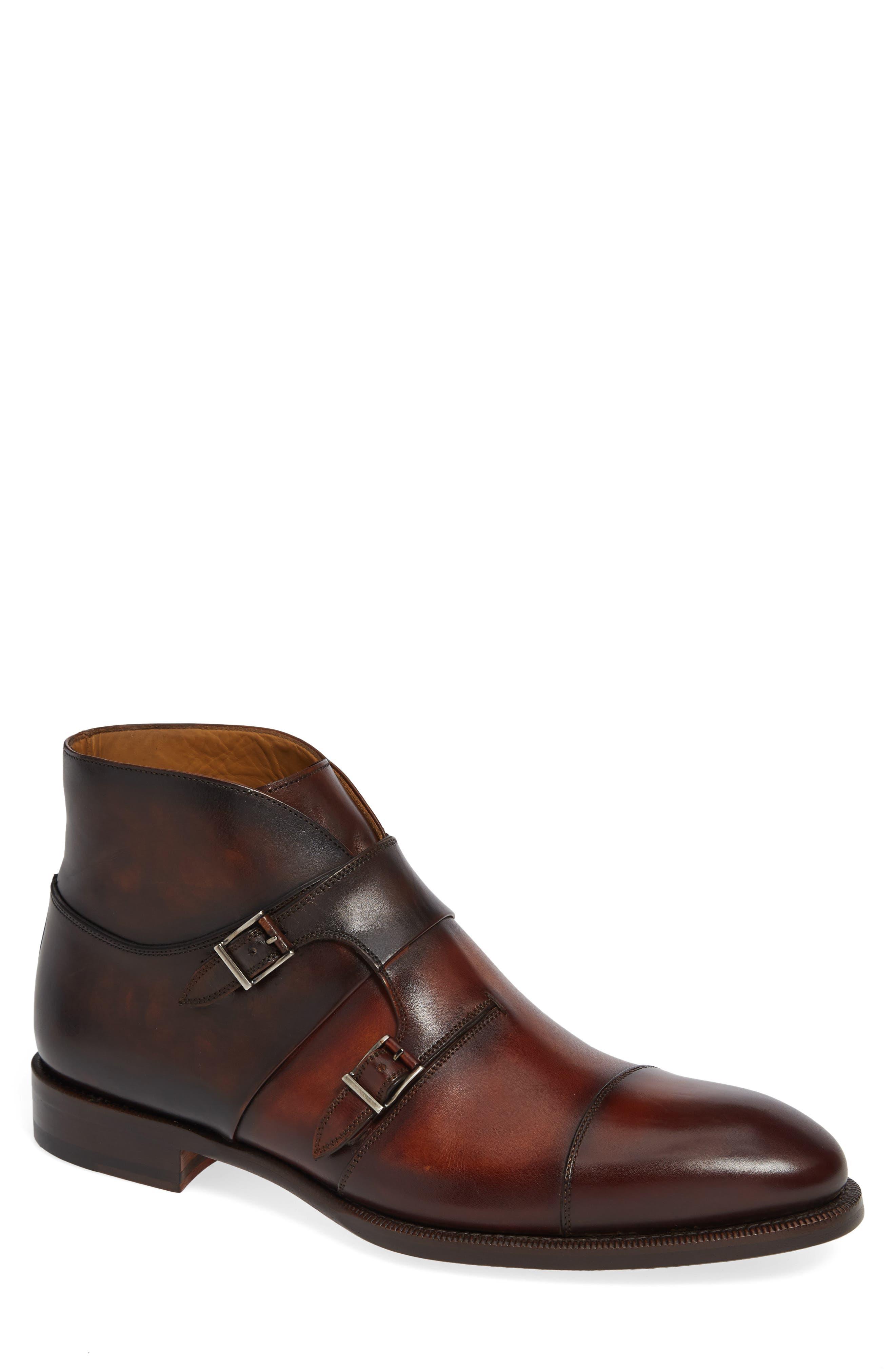 Dionicio Monk Strap Boot,                         Main,                         color, COGNAC LEATHER