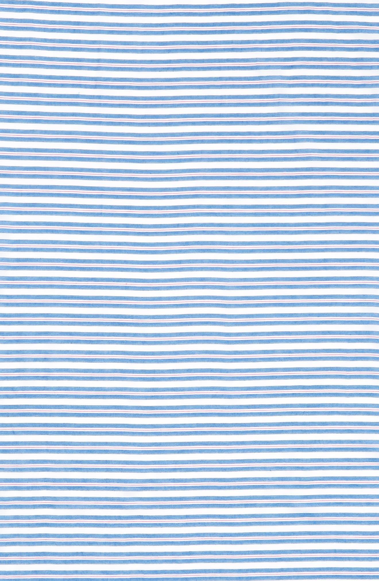 candy stripe cotton & silk scarf,                             Alternate thumbnail 4, color,                             460