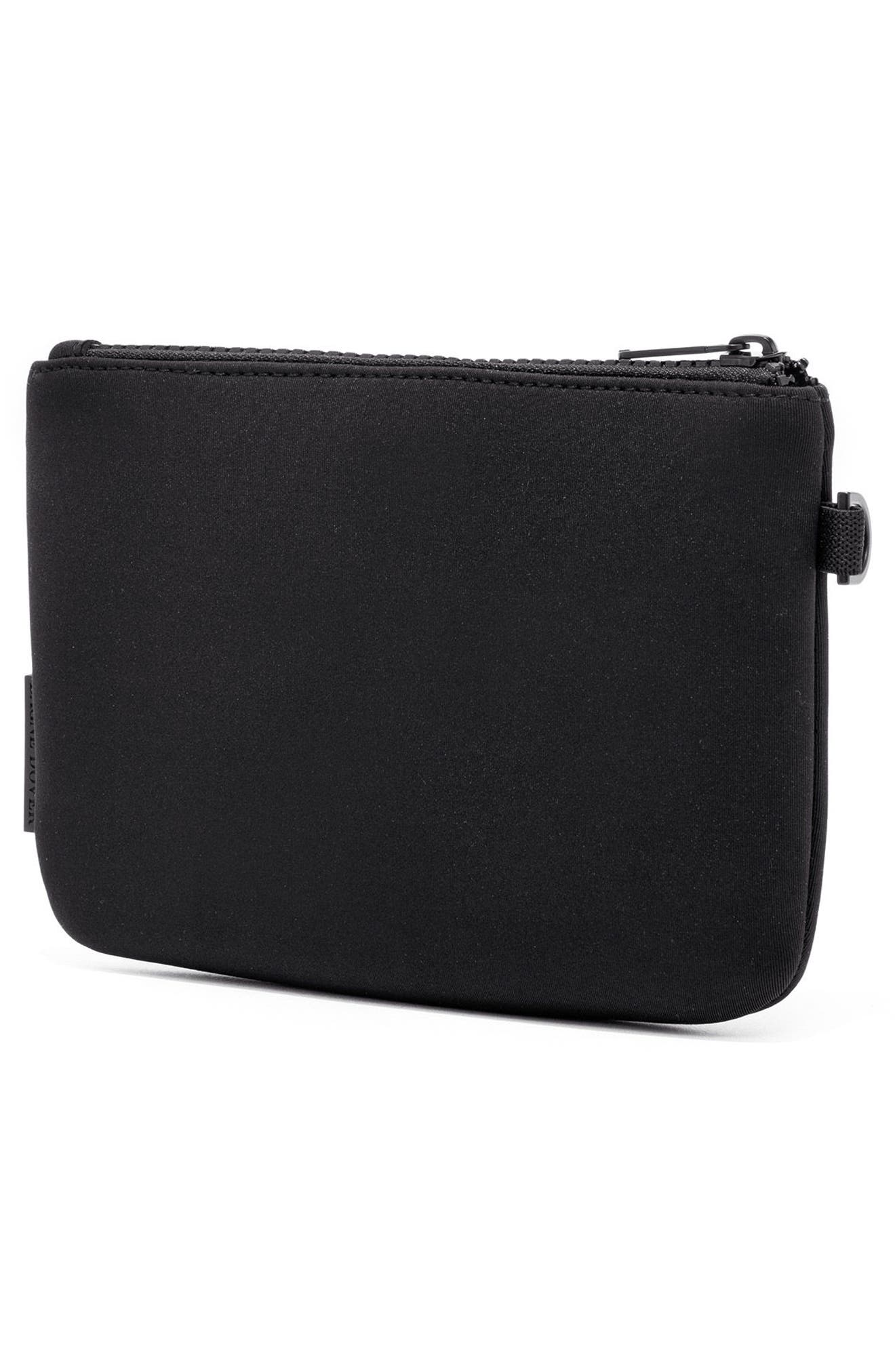 Scout Small Zip Top Pouch,                             Alternate thumbnail 5, color,                             ONYX