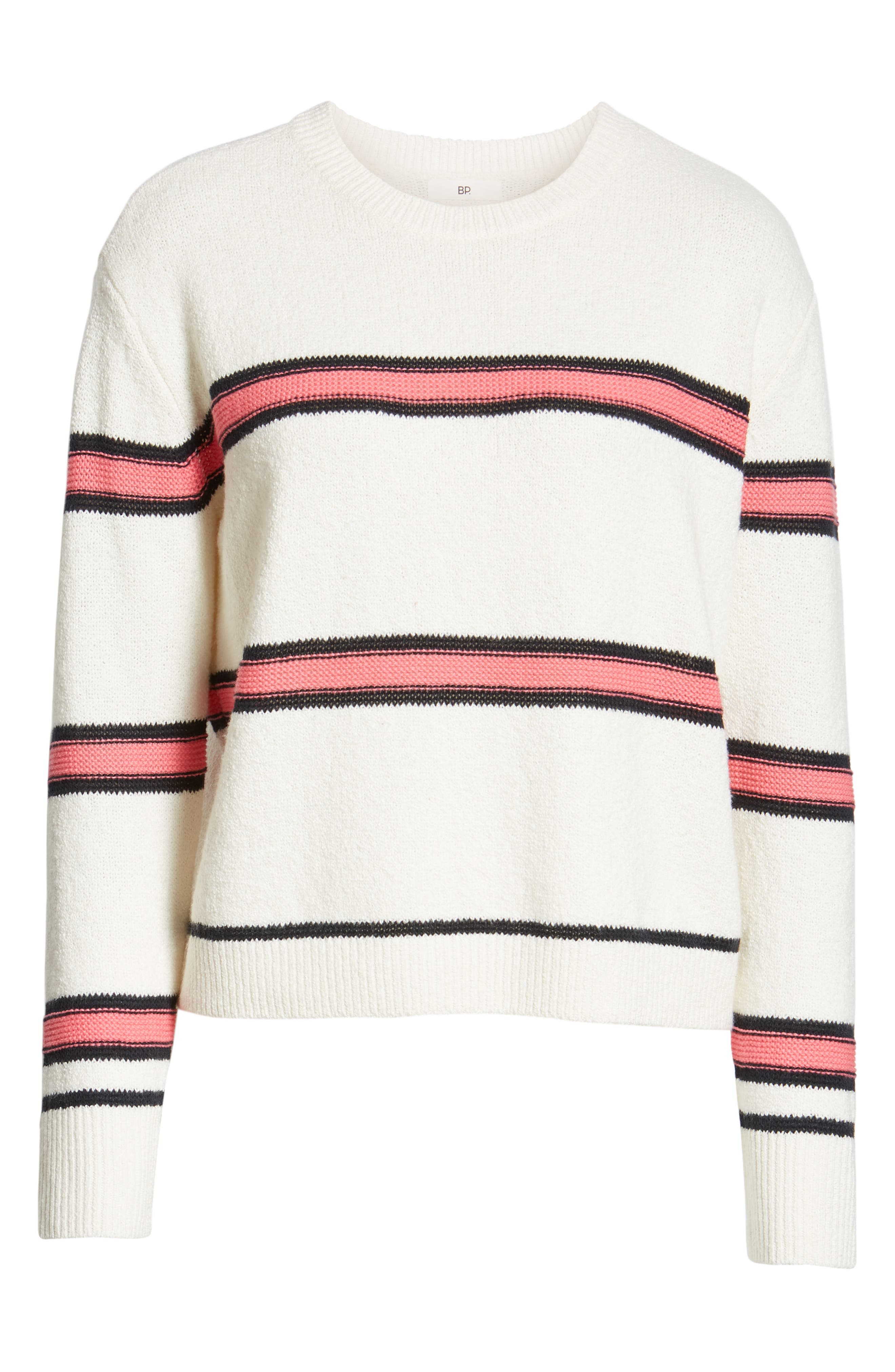 Spring Stripe Sweater,                             Alternate thumbnail 6, color,                             IVORY CLAUDIA STRIPE