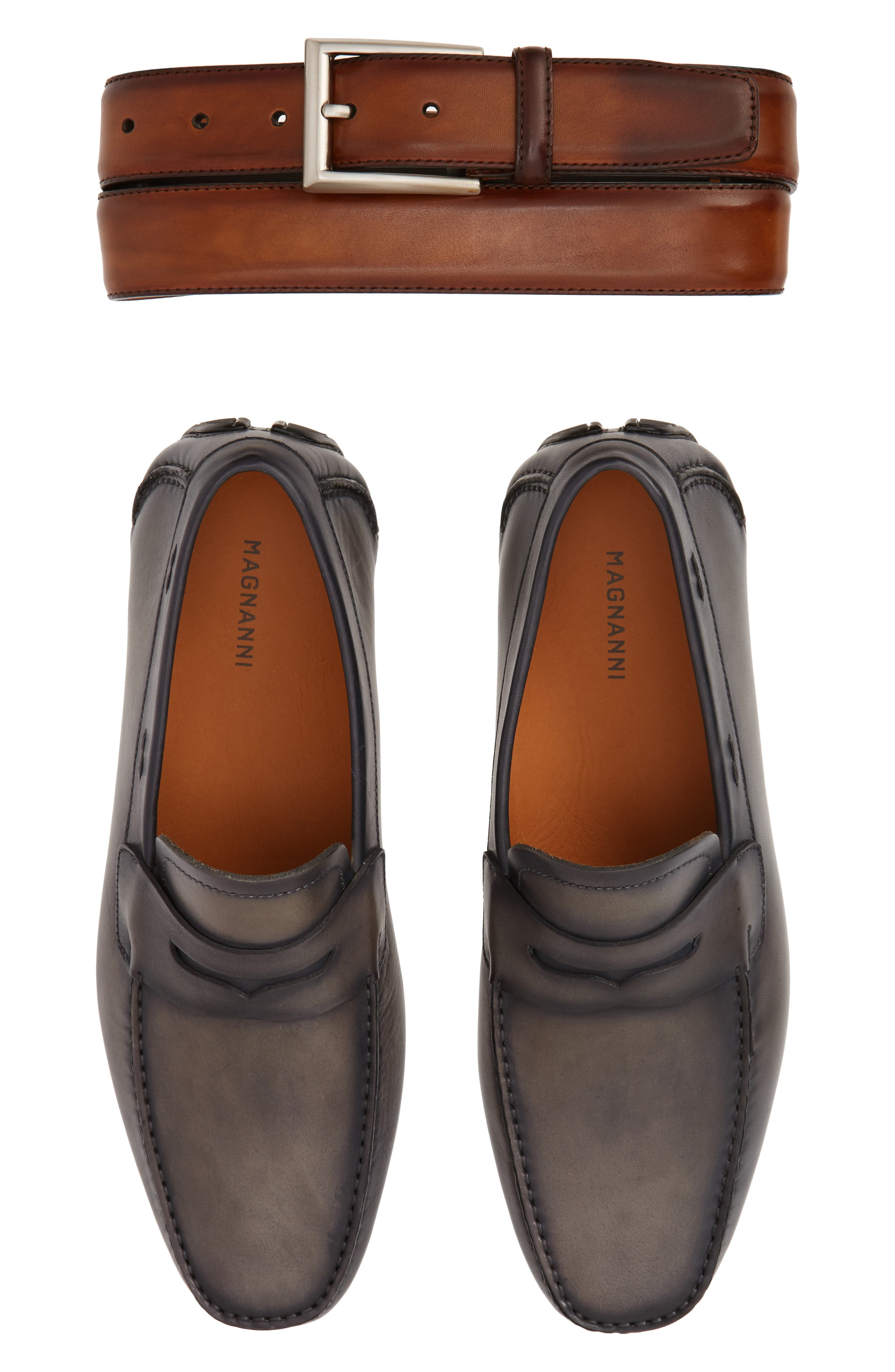'Dylan' Leather Driving Shoe,                             Alternate thumbnail 9, color,