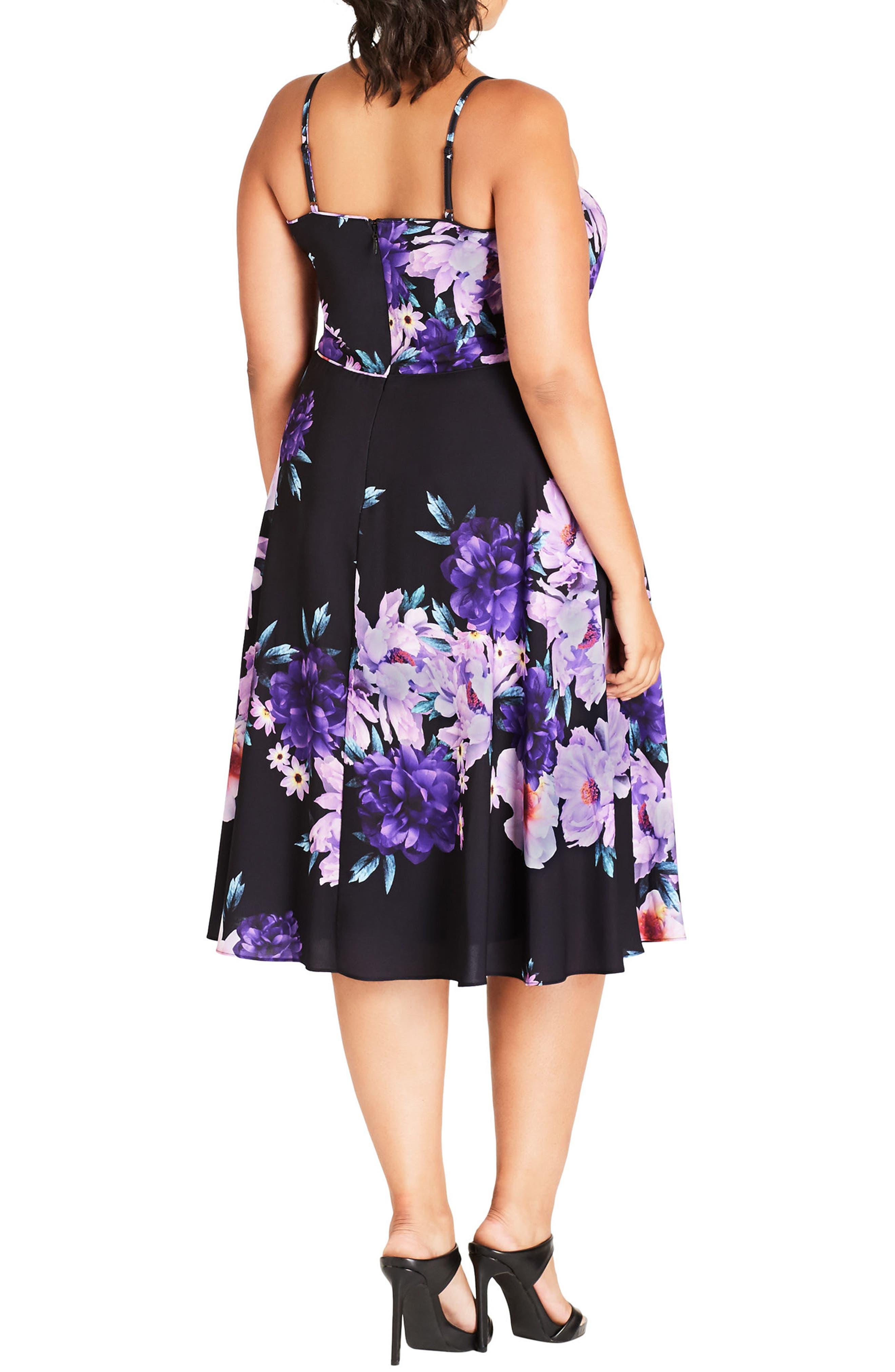 Summer Fling Floral Print Midi Dress,                             Alternate thumbnail 2, color,                             650