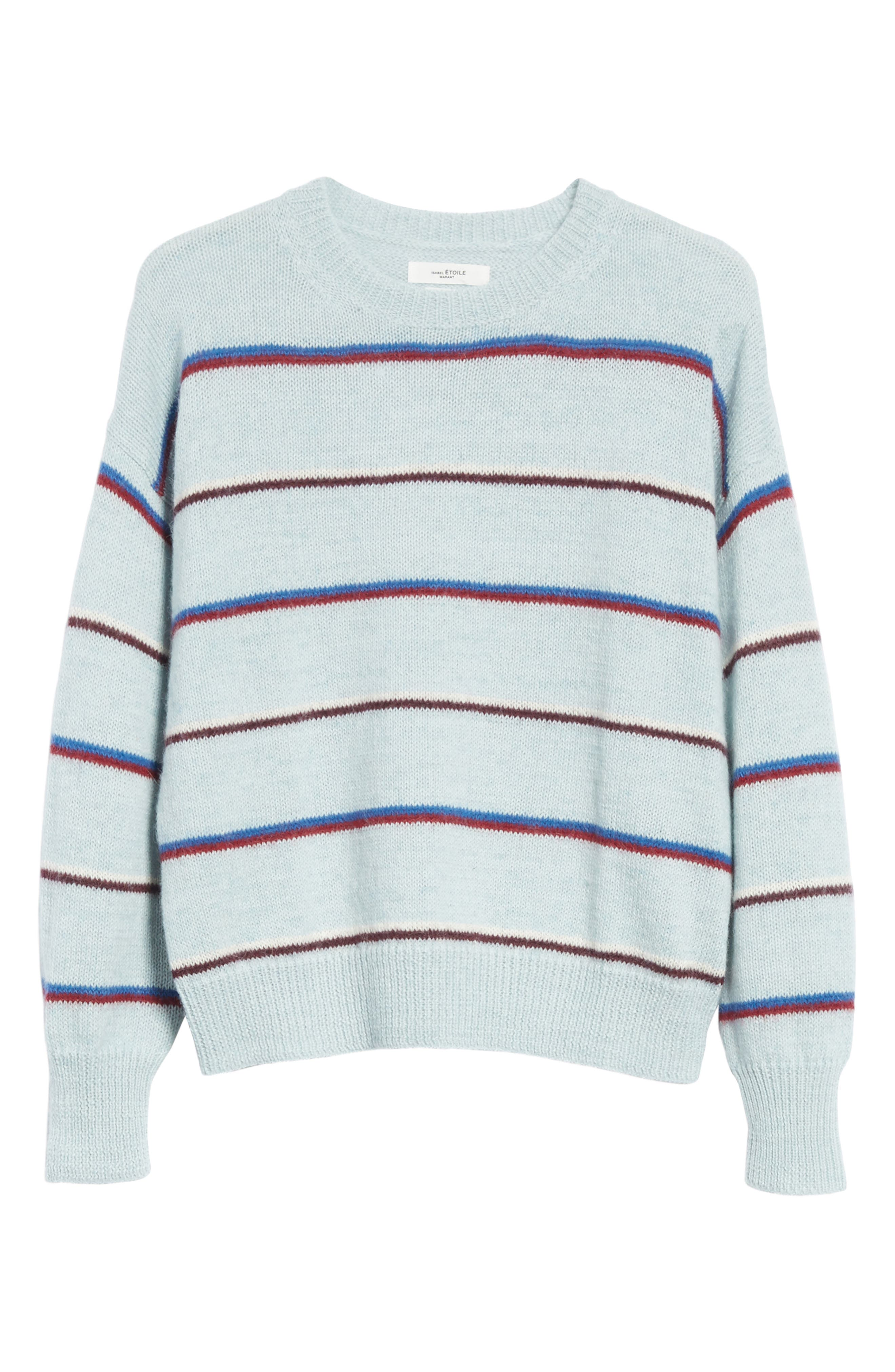 ISABEL MARANT ÉTOILE,                             Gatlin Stripe Alpaca Blend Sweater,                             Alternate thumbnail 6, color,                             400