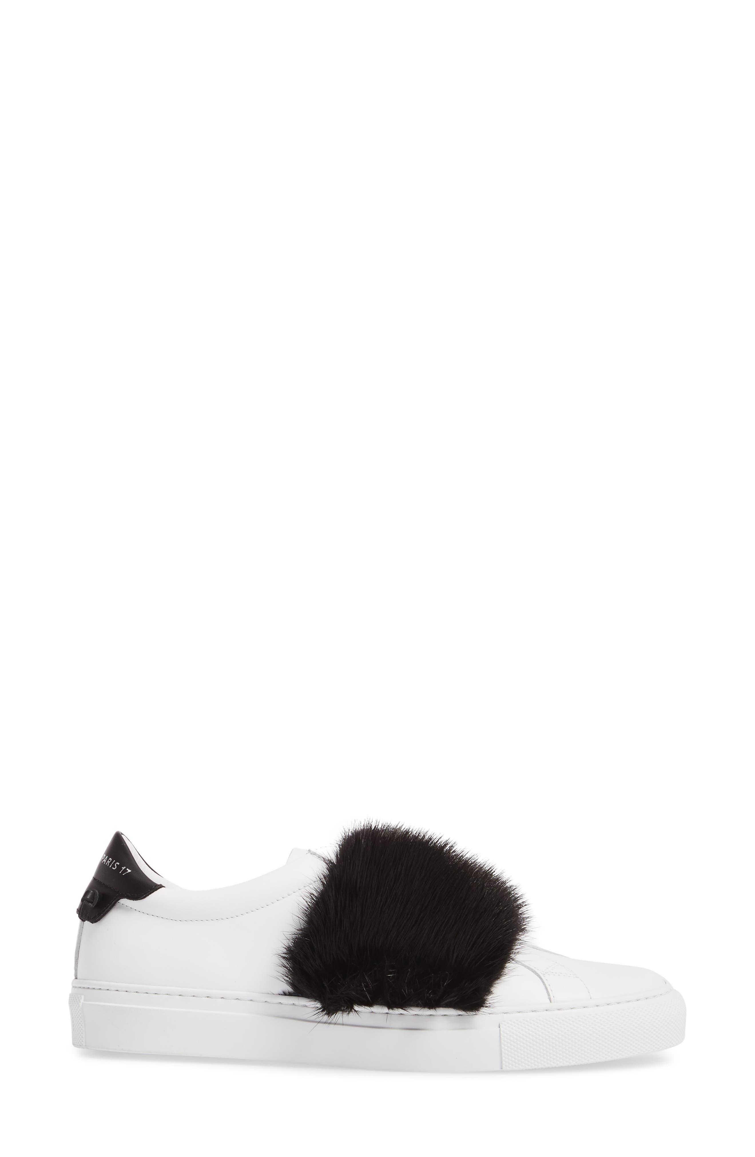 Urban Street Slip-On Sneaker with Genuine Mink Fur Trim,                             Alternate thumbnail 3, color,                             115