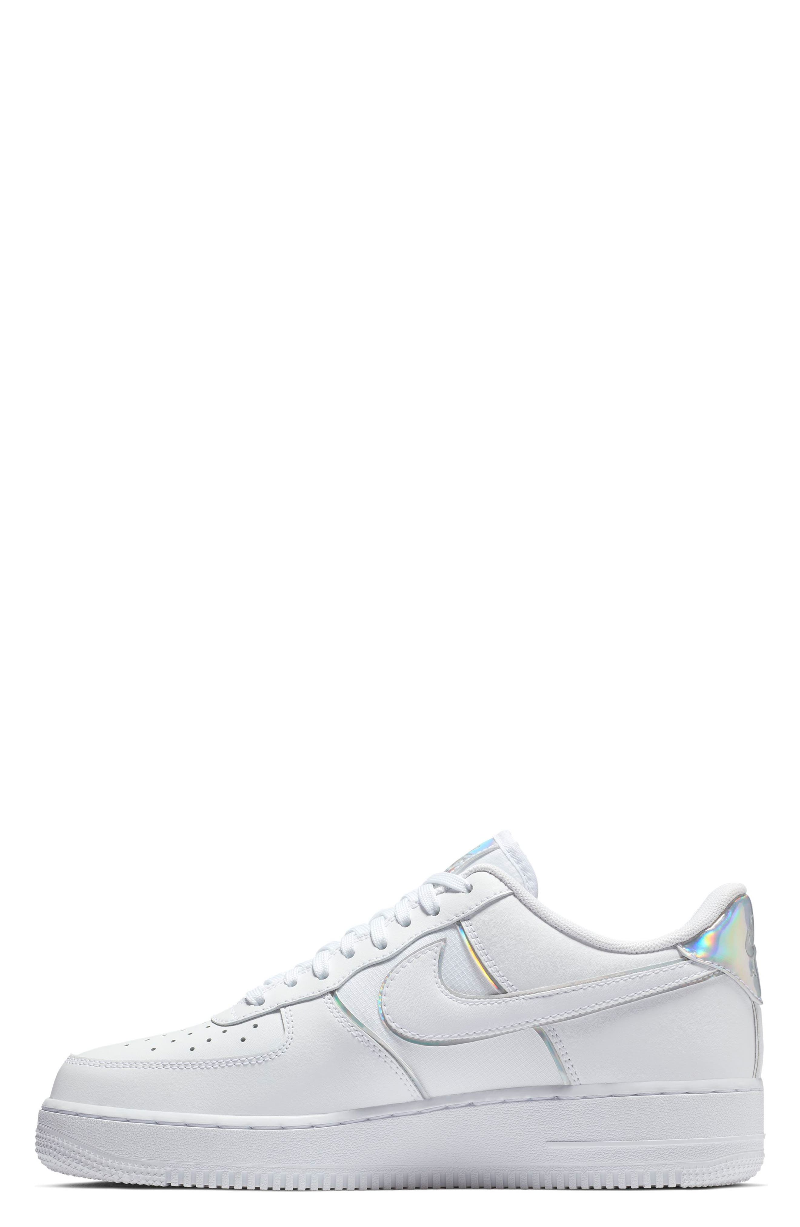 Air Force 1 '07 LV8 4 Sneaker,                             Alternate thumbnail 3, color,                             WHITE/ WHITE/ WHITE