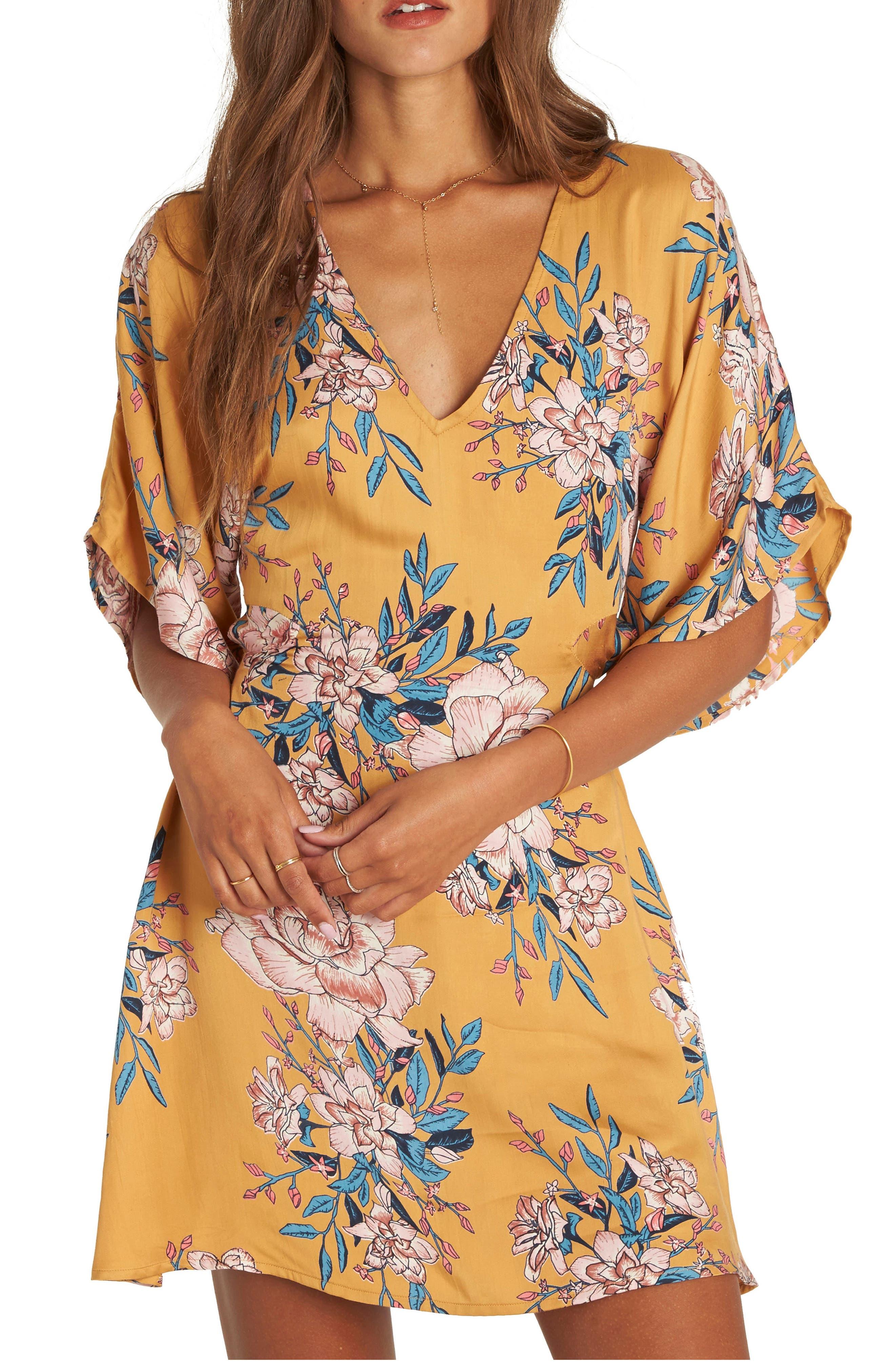 Golden Light Back Cutout Minidress,                         Main,                         color,