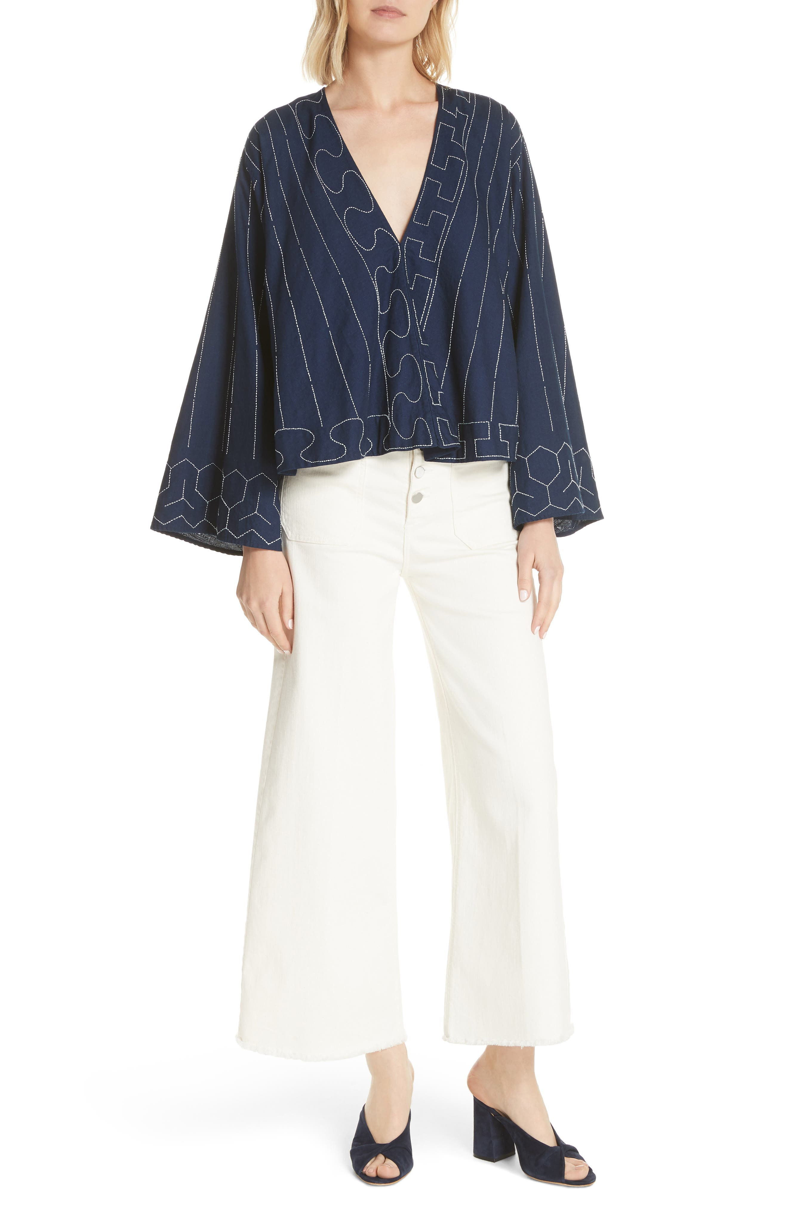 Orchid Embroidered Top,                             Alternate thumbnail 7, color,                             481
